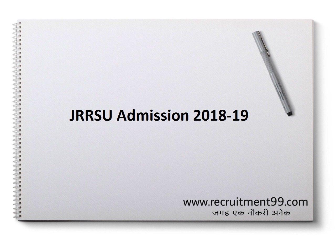 JRRSU शिक्षा शास्त्री बी एड Admission Notification Admit Card & Result 2019