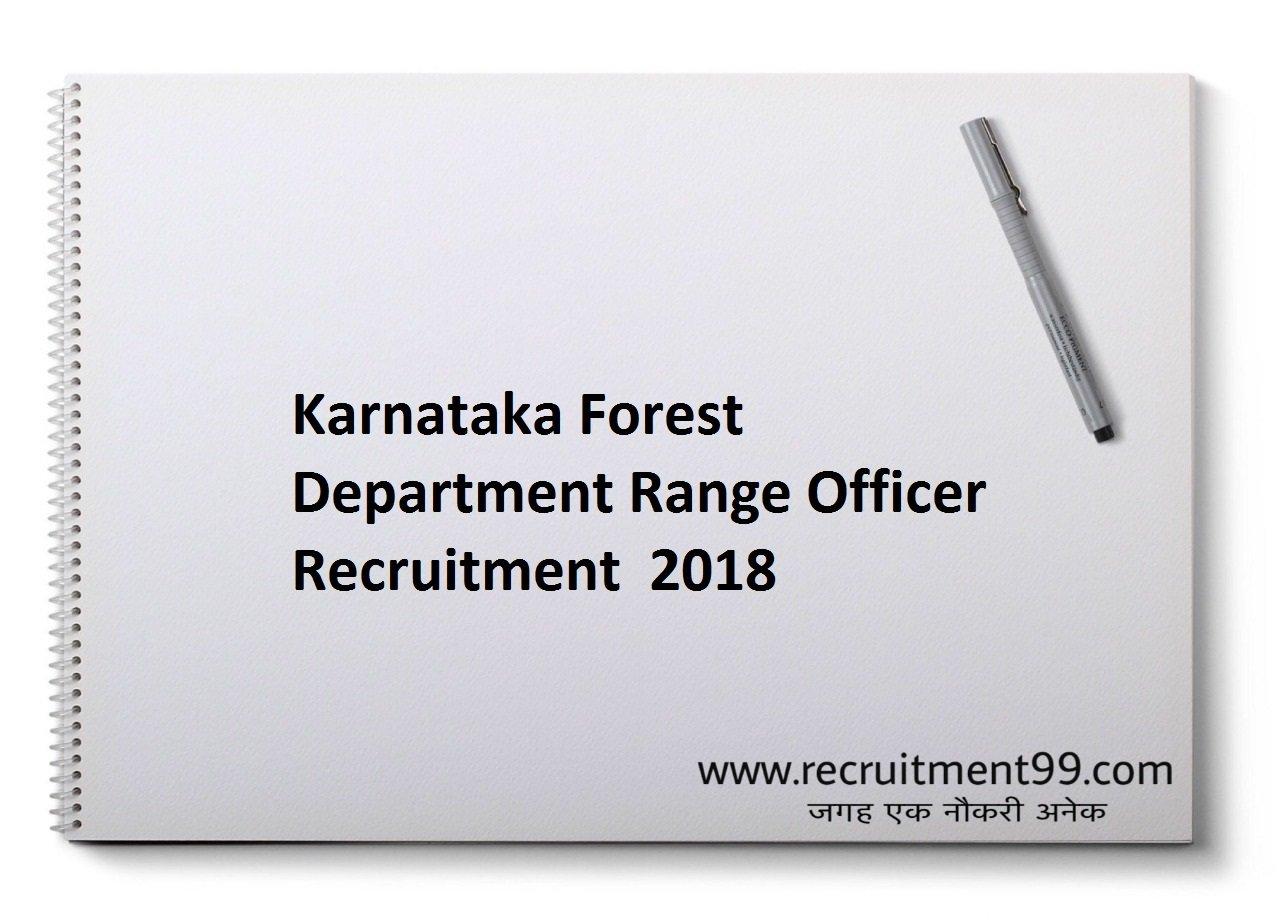 Karnataka Forest Department Range Officer Recruitment, Admit Card & Result 2018