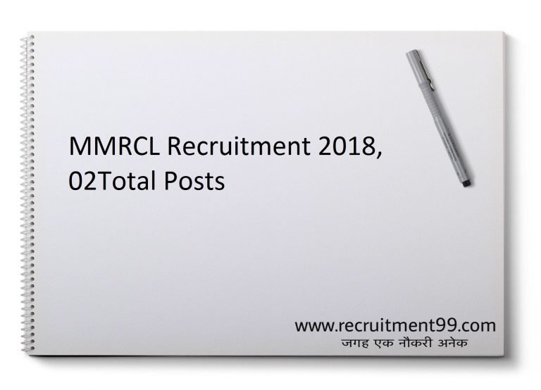 MMRCL Recruitment 2018 - General Manager 2 Posts
