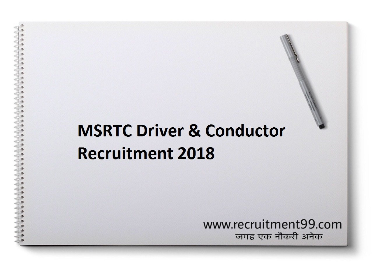MSRTC Driver Conductor Recruitment, Admit Card & Result 2018