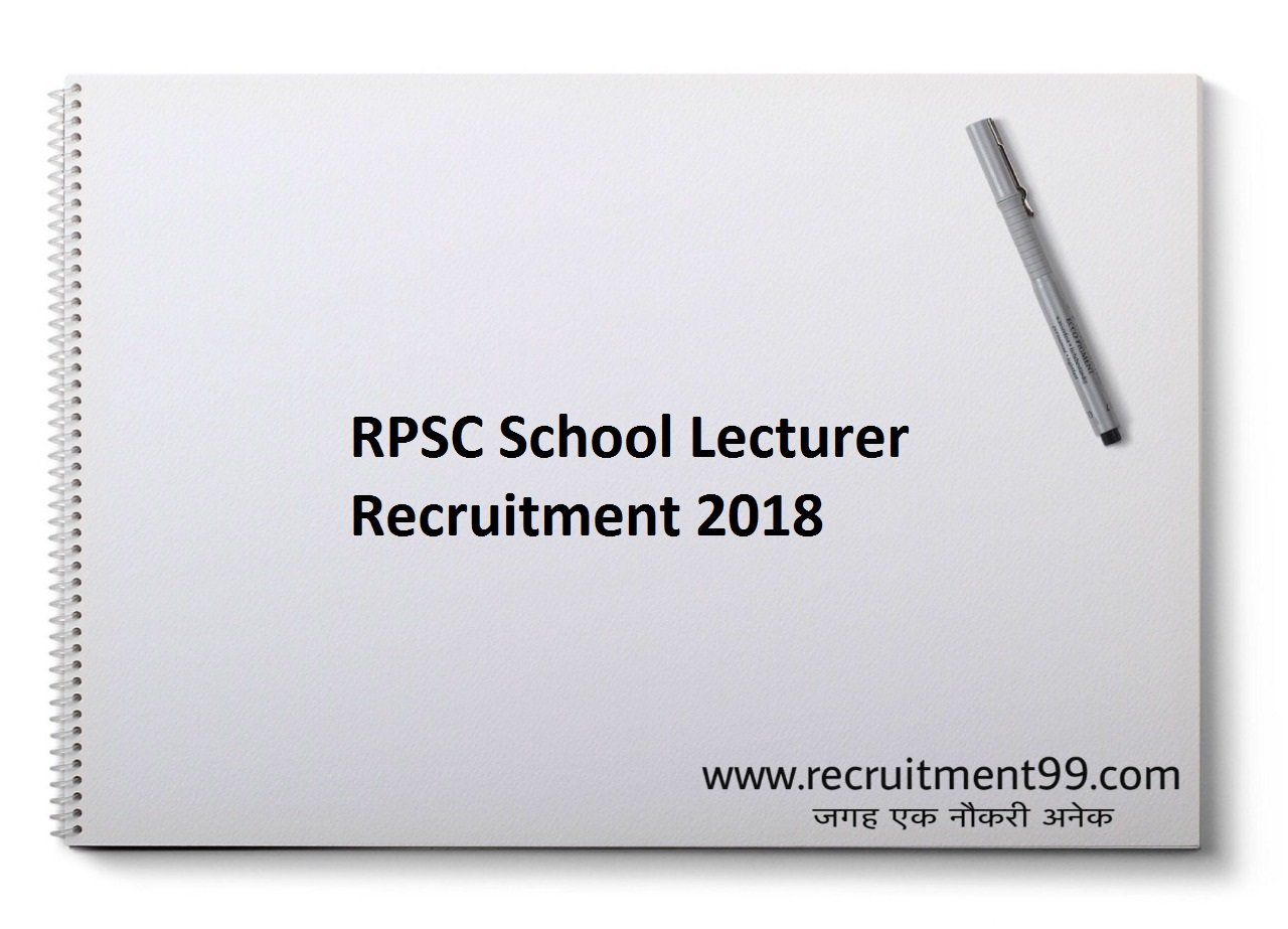 RPSC School Lecturer Recruitment Admit Card Result 2018