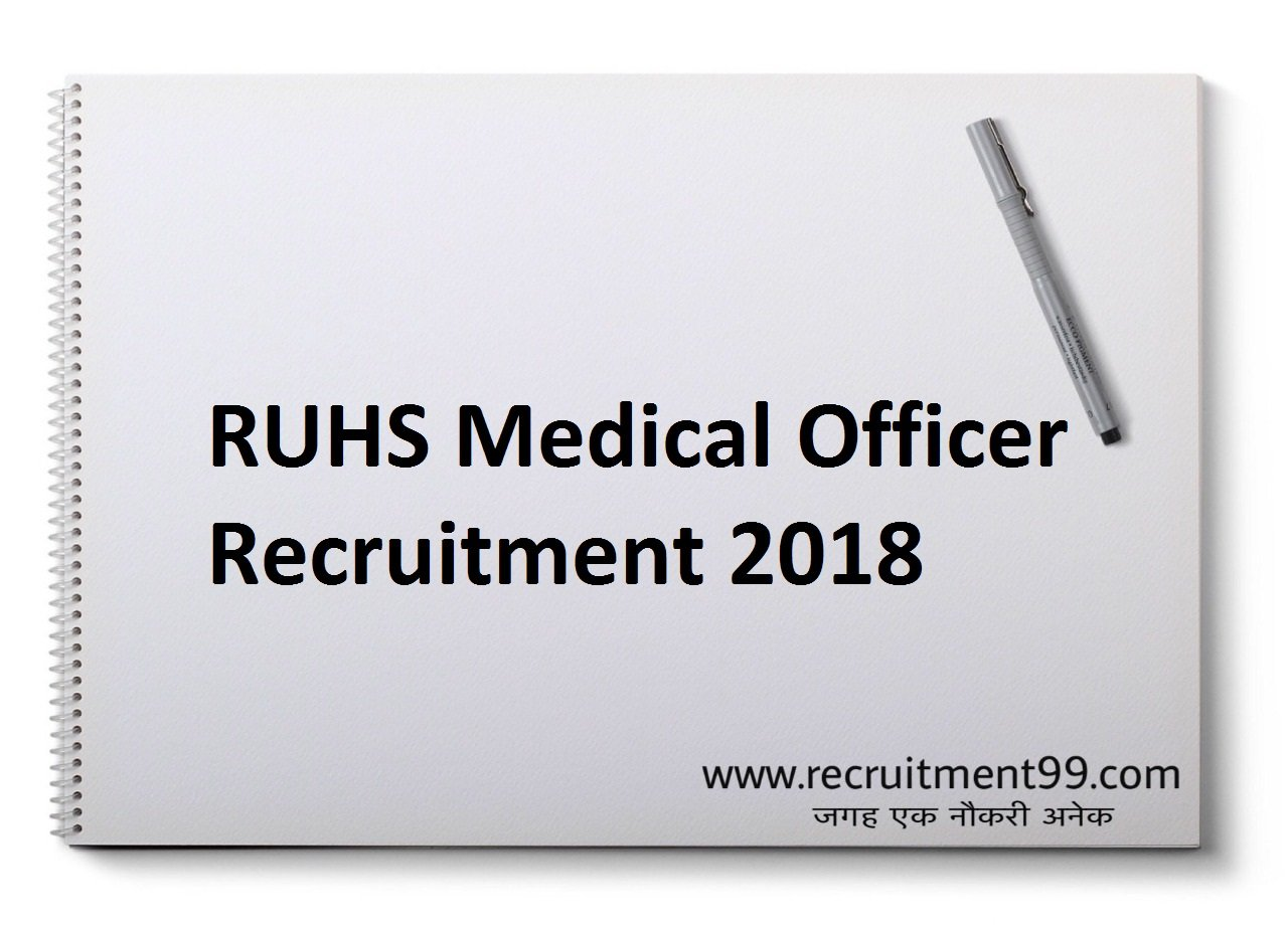 RUHS MO Recruitment, Admit Card & Result 2018