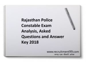 Rajasthan Police Constable 8 March 2018 - Exam Analysis, GK Asked Questions & Answer Key