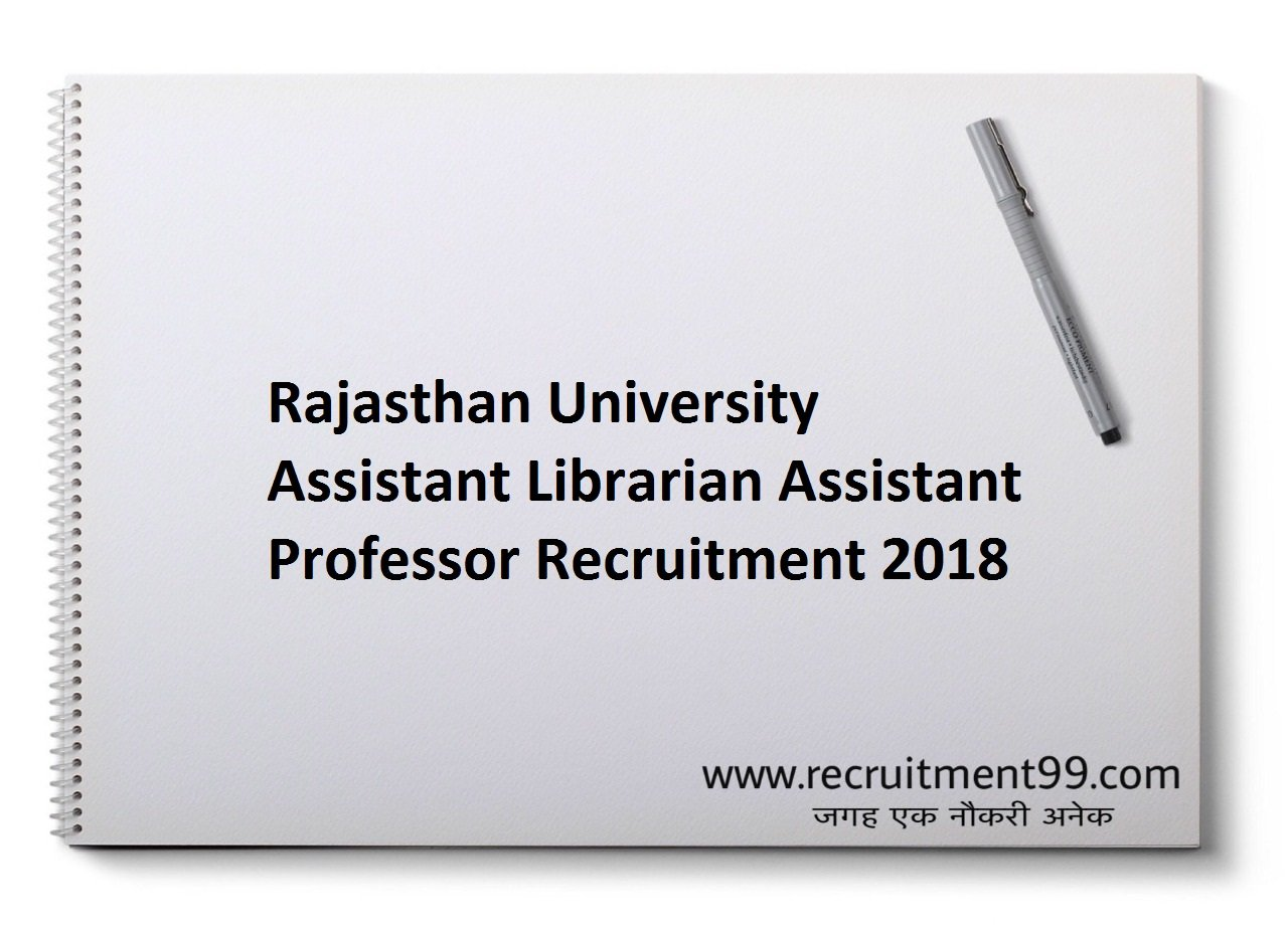 Rajasthan University Assistant Librarian Assistant Professor Recruitment, Admit Card & Result 2018