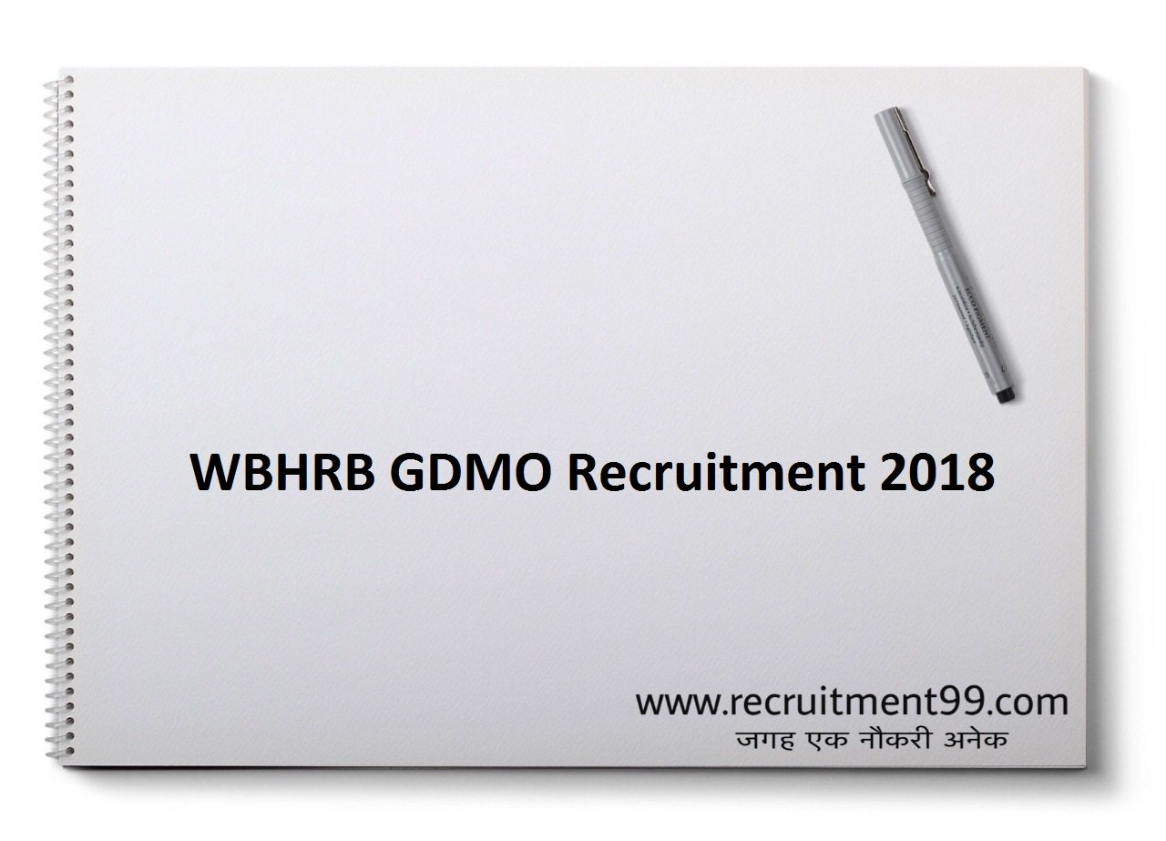 WBHRB GDMO Recruitment, Admit Card & Result 2018