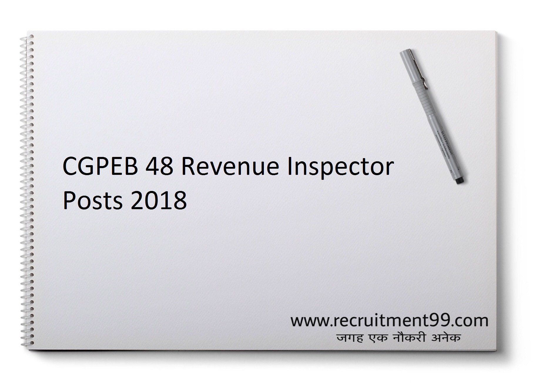 CGPEB Recruitment 2018 - 48 Revenue Inspector Apply online