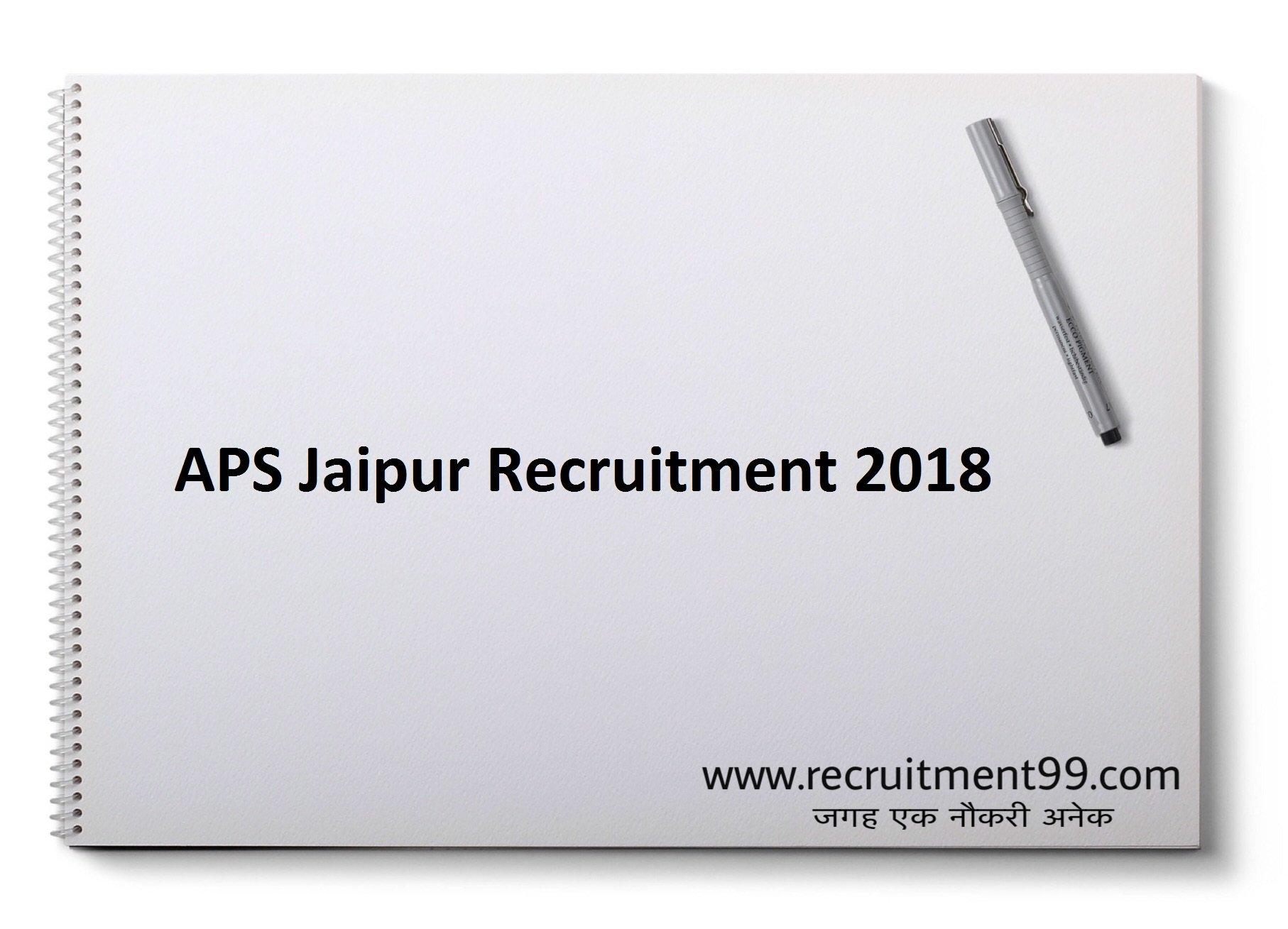 APS Jaipur PGT TGT PT & LDCRecruitment Admit Card & Result 2019