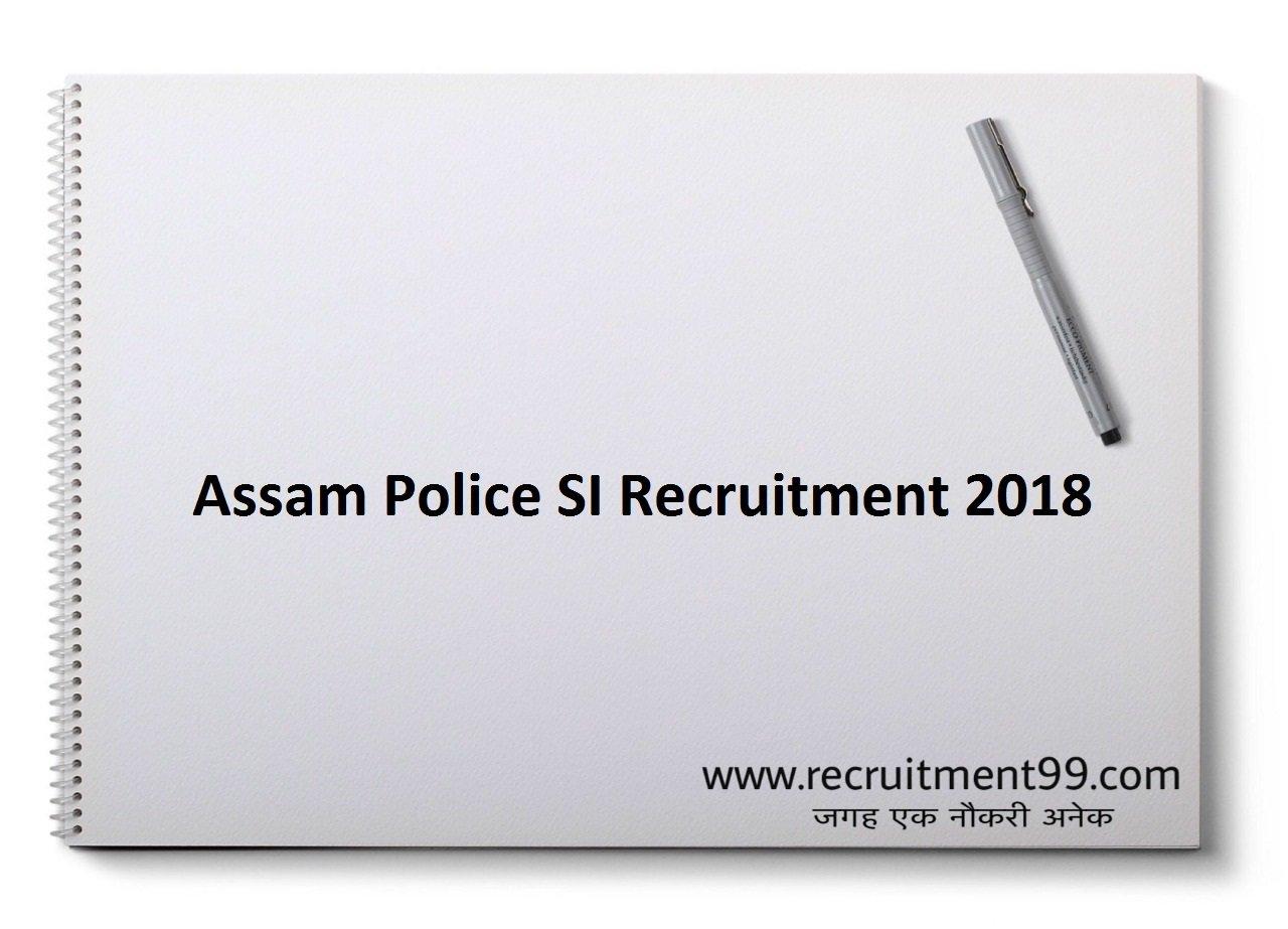 Assam Police SI Recruitment Admit Card Result 2018