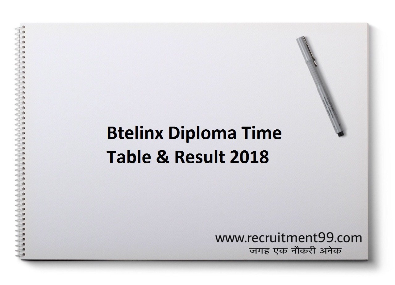 Btelinx Diploma Exam Time Table & Result 2019