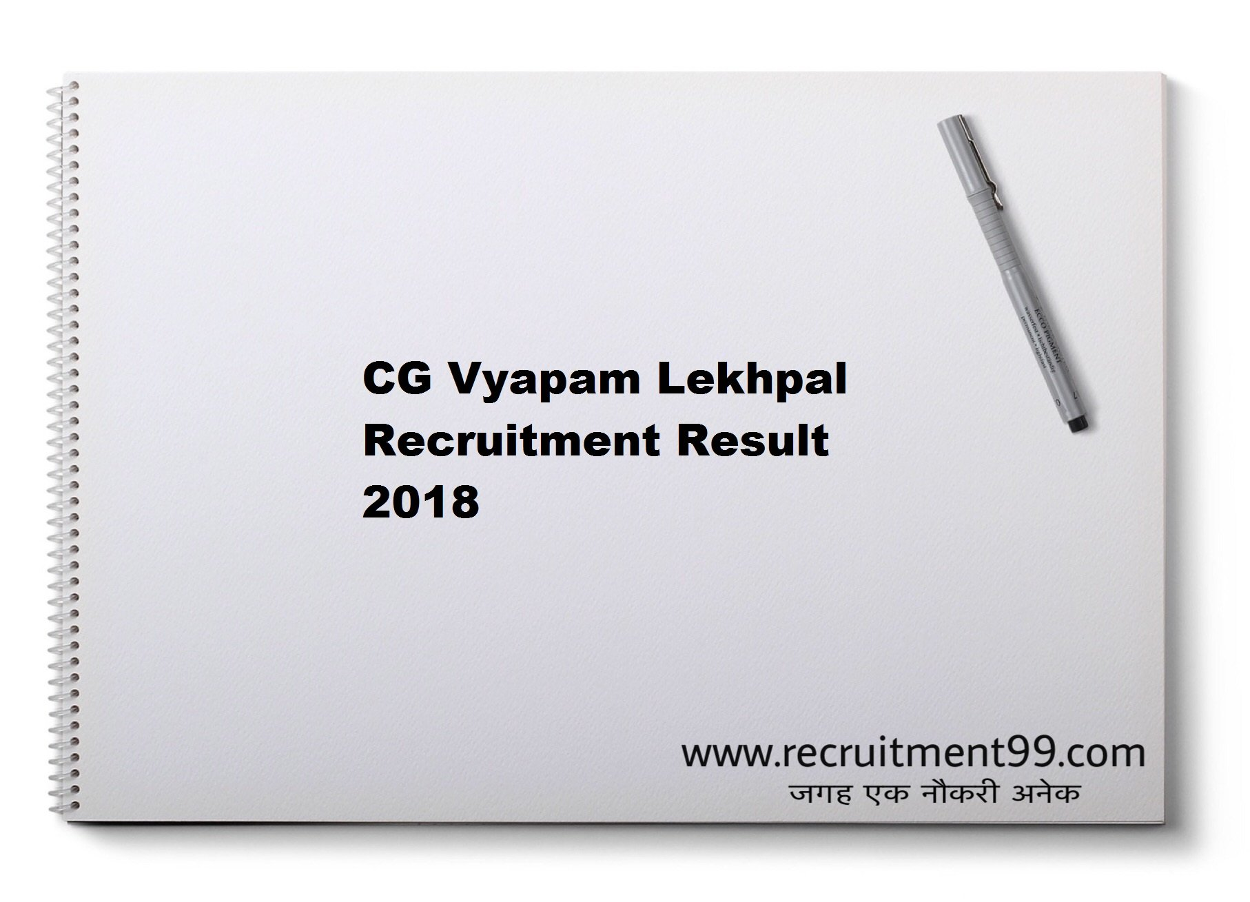 CG Vyapam Lekhpal  Recruitment Admit Card Result 2018