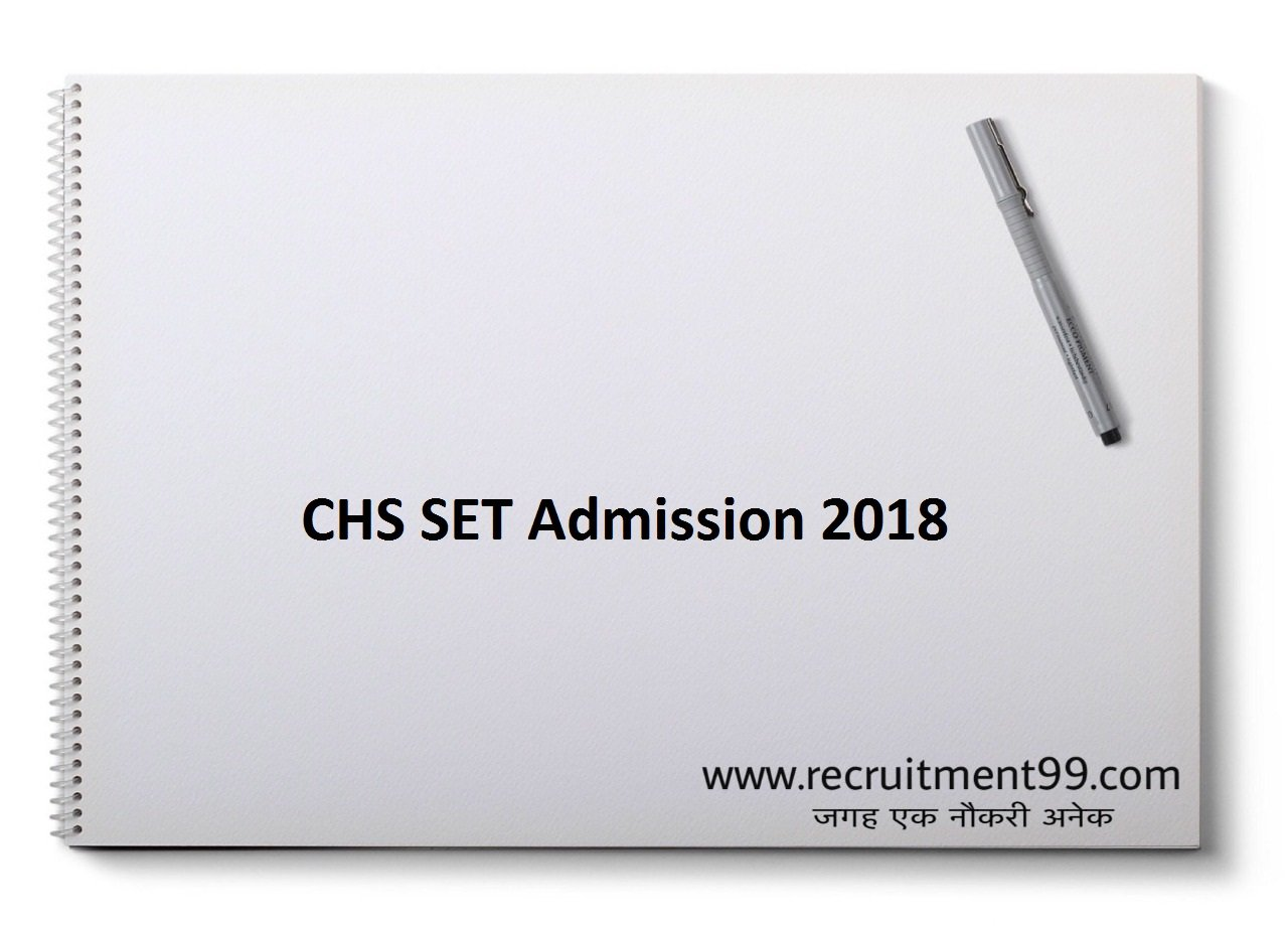 CHS Varanasi SET Admission Form, Admit Card, Result & Counselling 2018