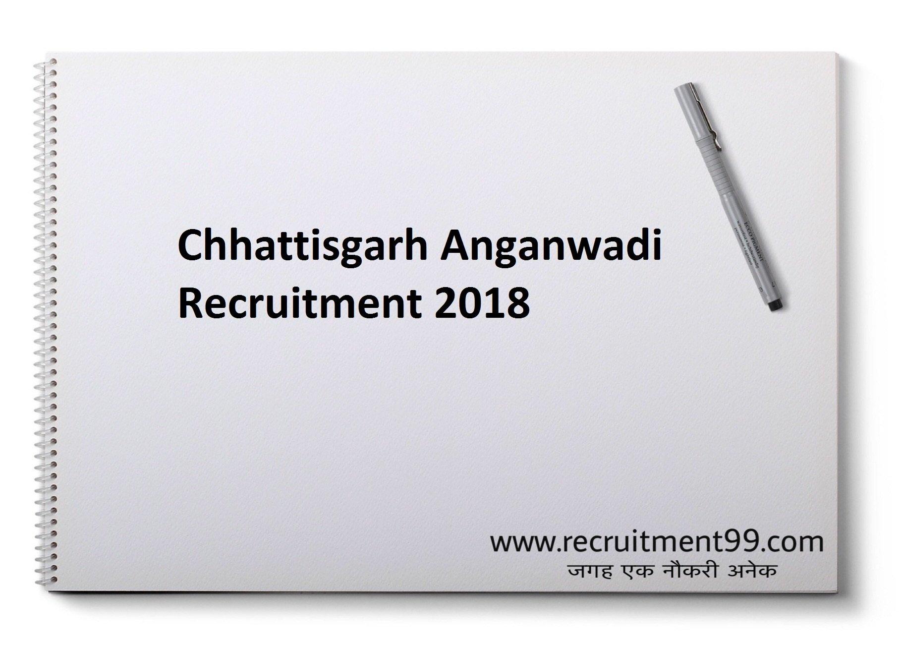 Chhattisgarh Angavwadi Helper, Worker & Supervisor Recruitment Admit Card Result 2018