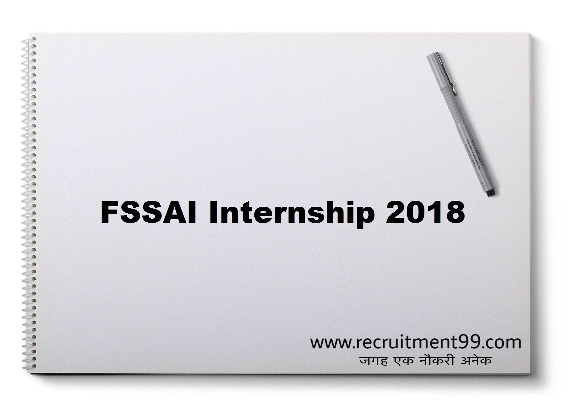 FSSAI Summer Internship Application Form Result 2018