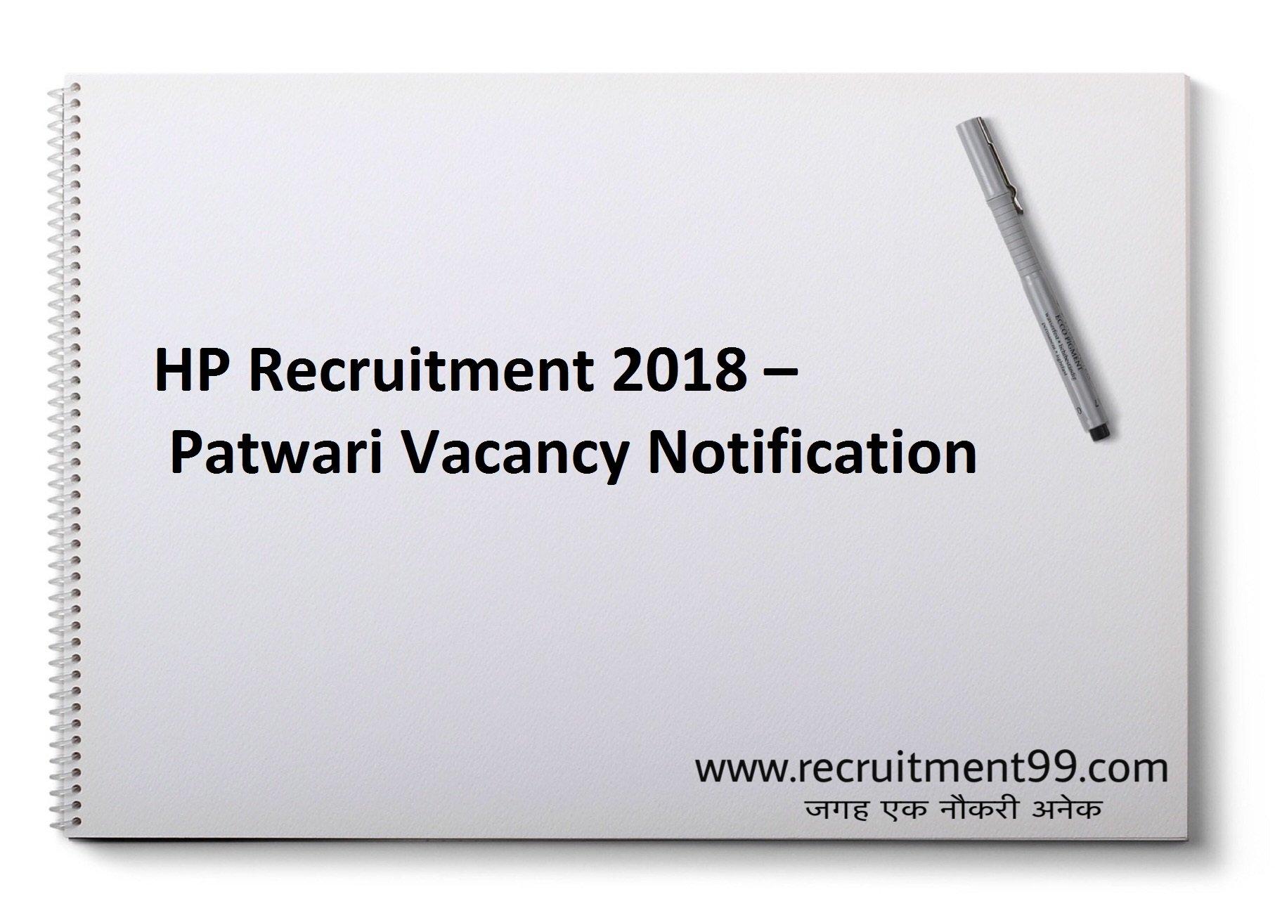 HP Patwari Recruitment Admit Card & Result 2018