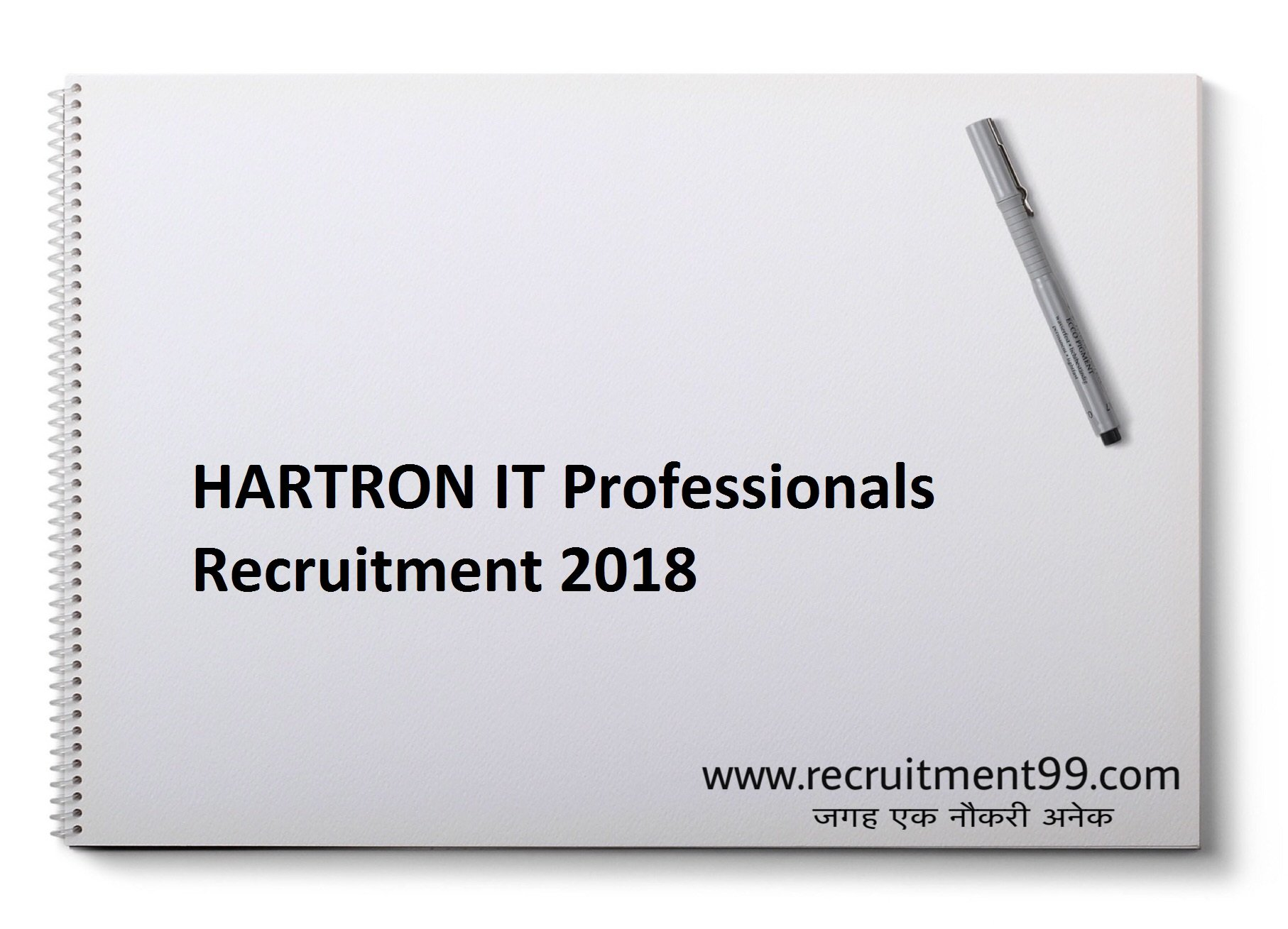 HARTRON  IT Professionals Recruitment Admit Card & Result 2018