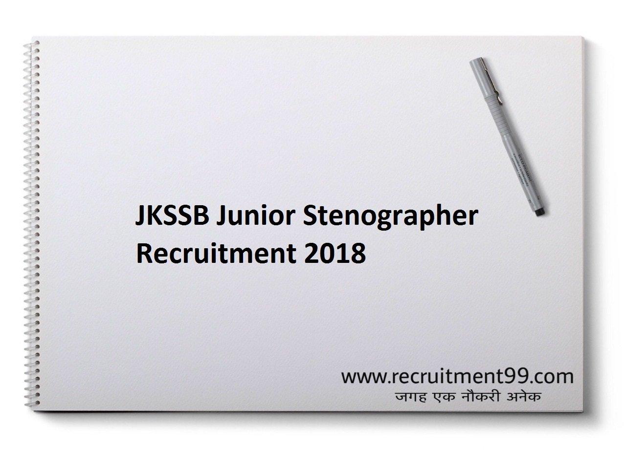 JKSSB Junior Stenographer Recruitment, Admit Card & Result 2018