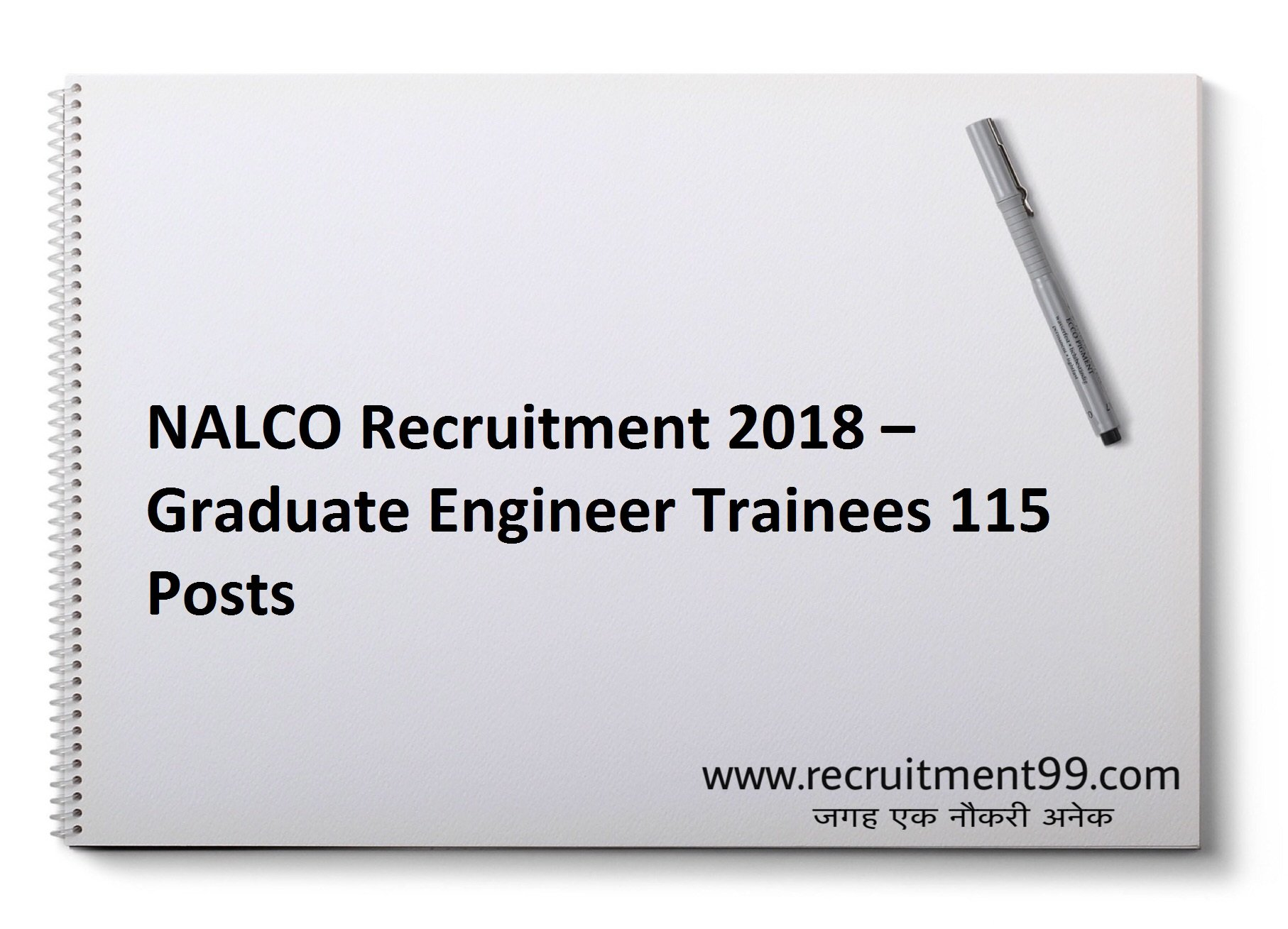 NALCO  Graduate Engineer Trainees Recruitment Admit Card & Result 2018