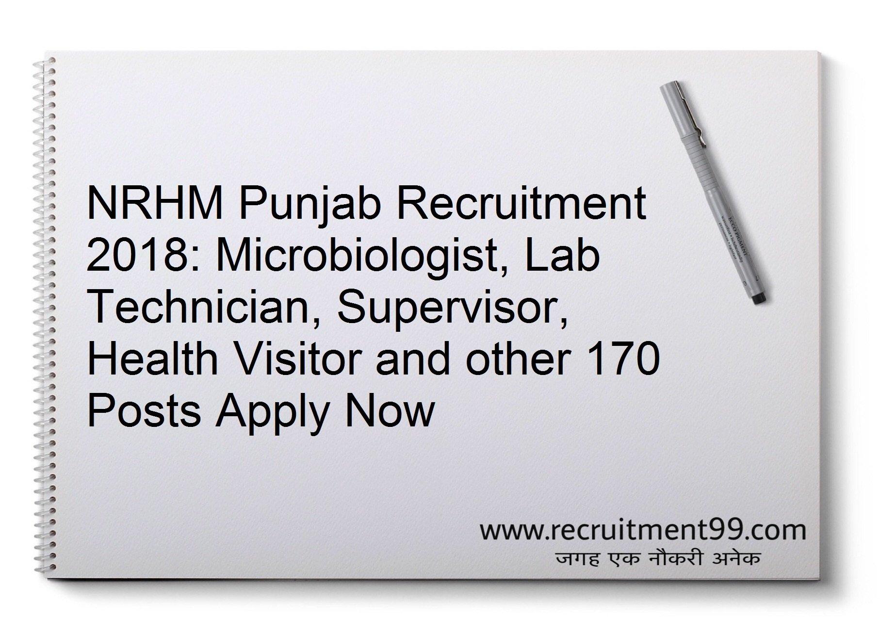 NRHM Punjab TB Health Visitor, Senior DOTS-Plus TB HV Supervisor Recruitment Admit Card Result 2018
