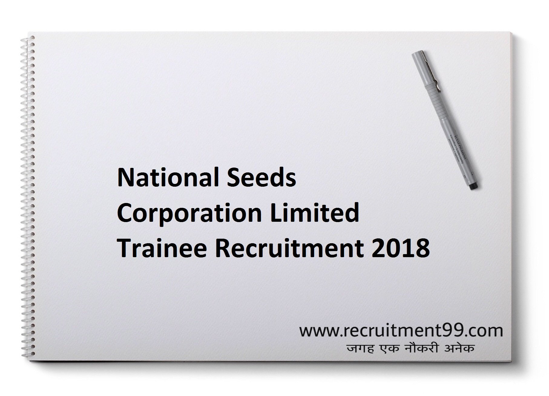 National Seeds Corporation Limited Trainee Recruitment Admit Card Result 2018