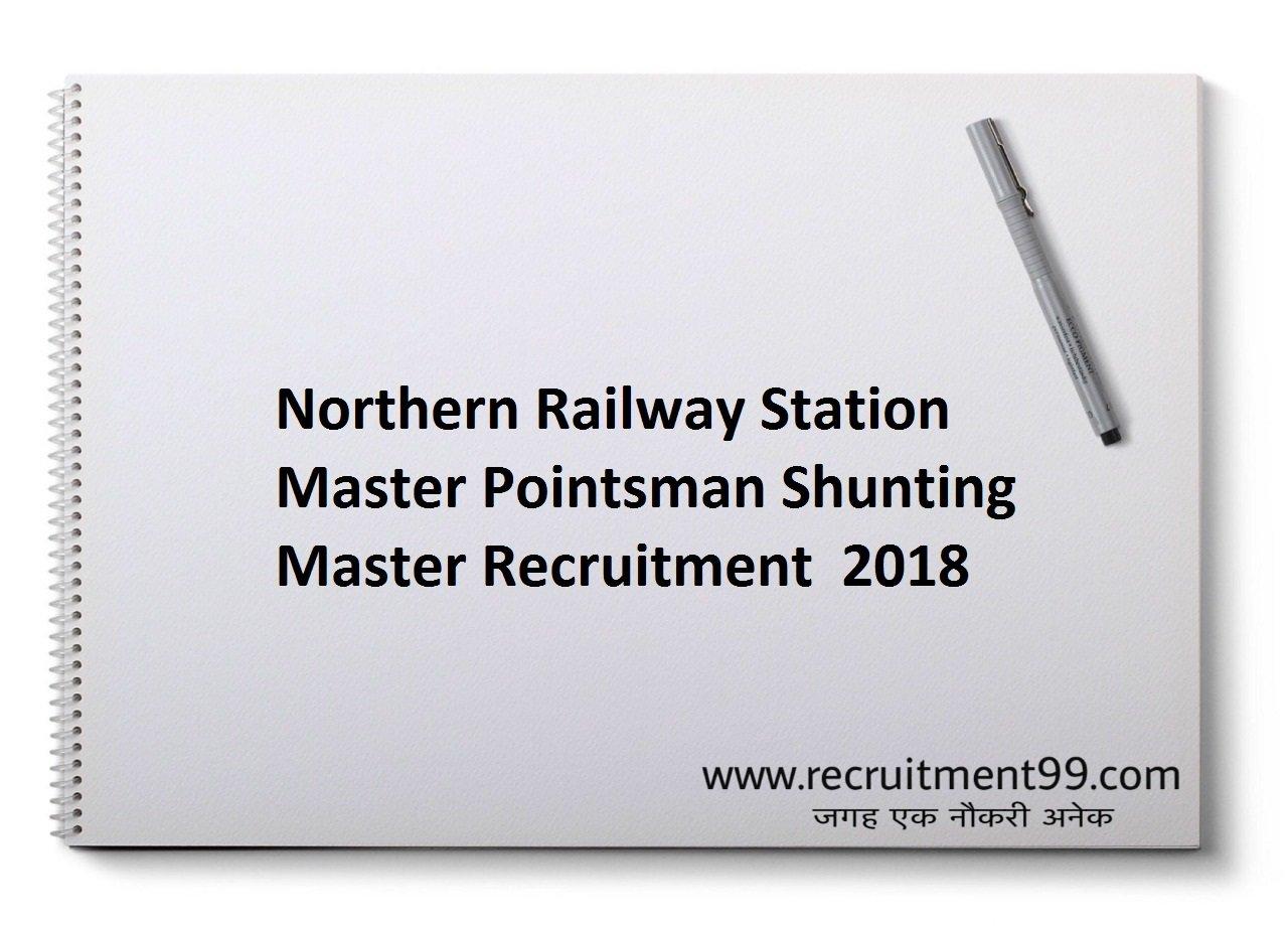 Northern Railway Station Master Pointsman Shunting Master Recruitment, Admit Card & Result 2018