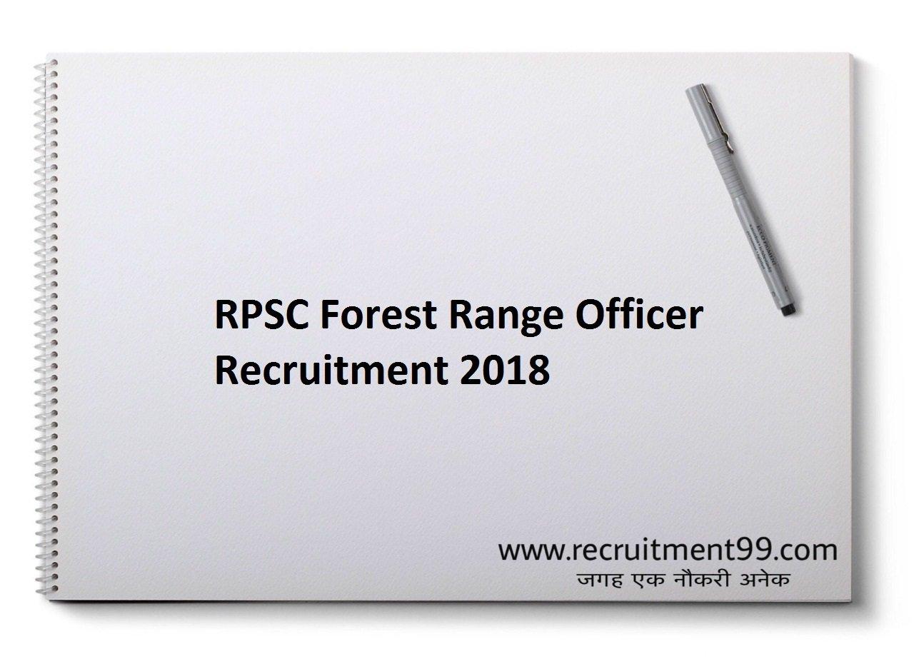 RPSC ACF Forest Range Officer Recruitment Admit Result 2018