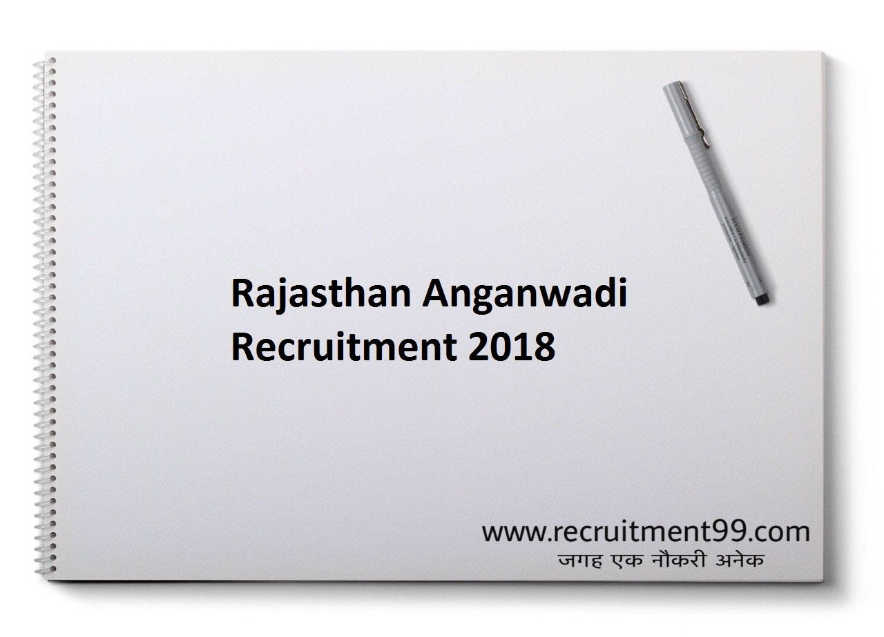 Rajasthan Anganwadi Worker Helper Supervisor Recruitment, Admit Card & Result 2018