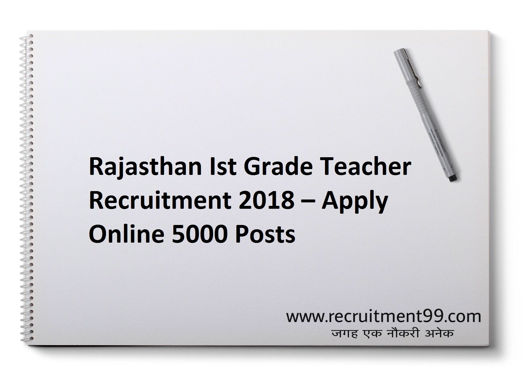 RPSC 1st Grade Teacher Recruitment Admit Card & Result 2018