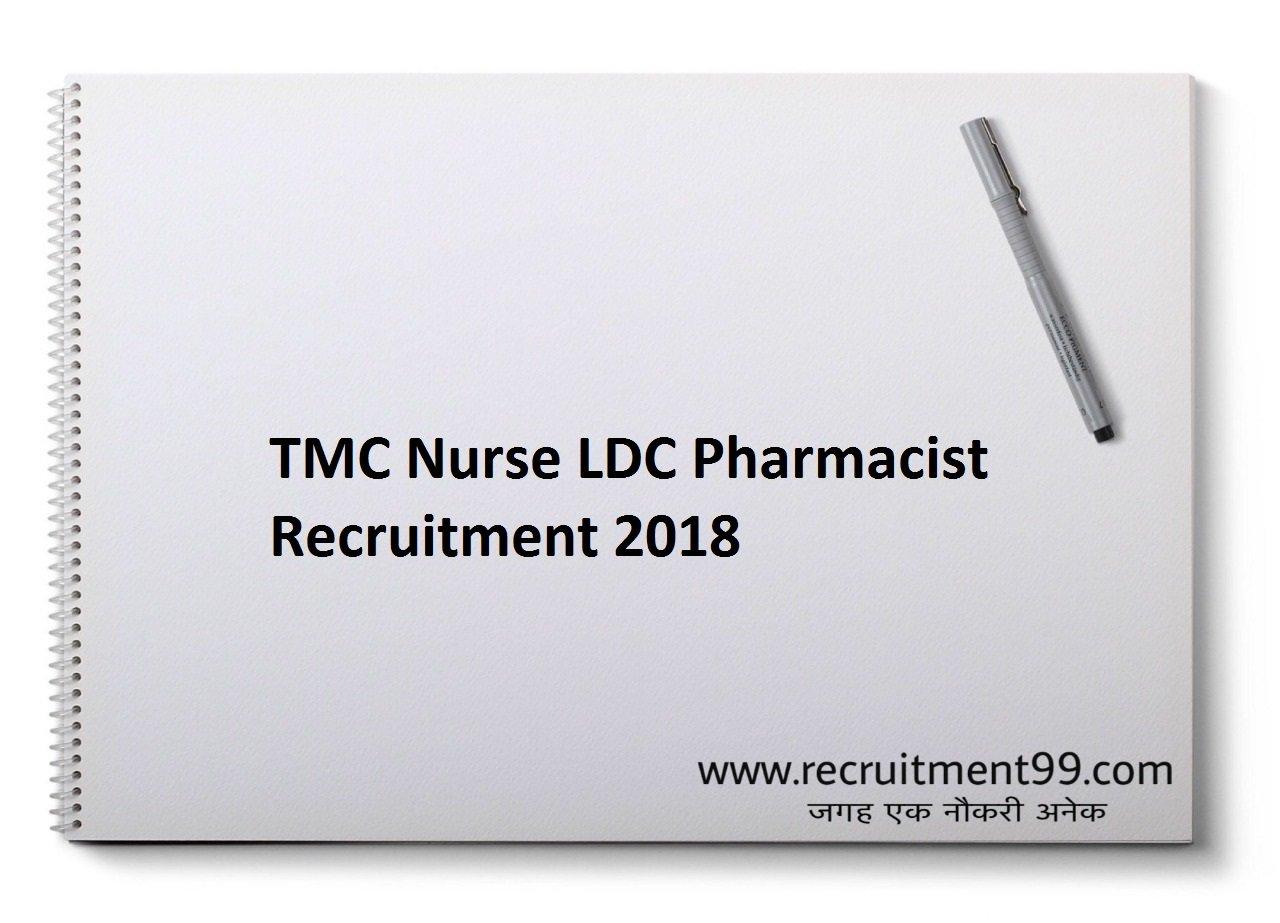 TMC Nurse LDC Pharmacist Recruitment, Admit Card & Result 2018