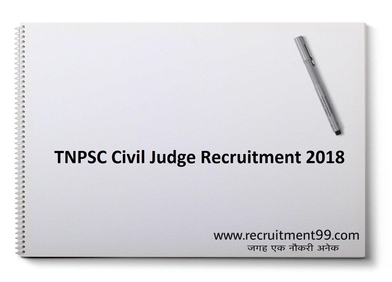 TNPSC Civil Judge Recruitment, Admit Card & Result 2018