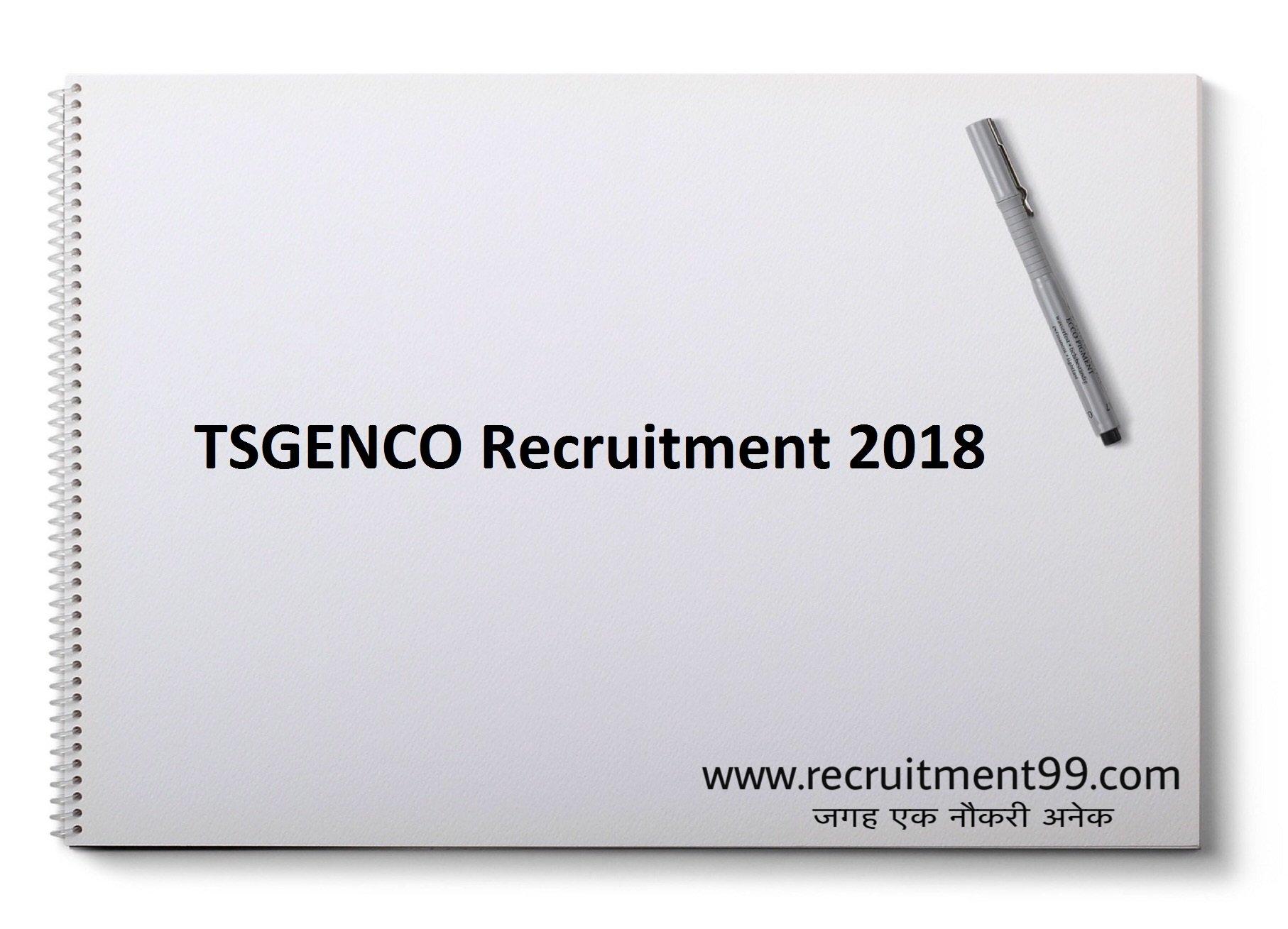 TSGENCO JAO Recruitment Admit Card & Result 2018