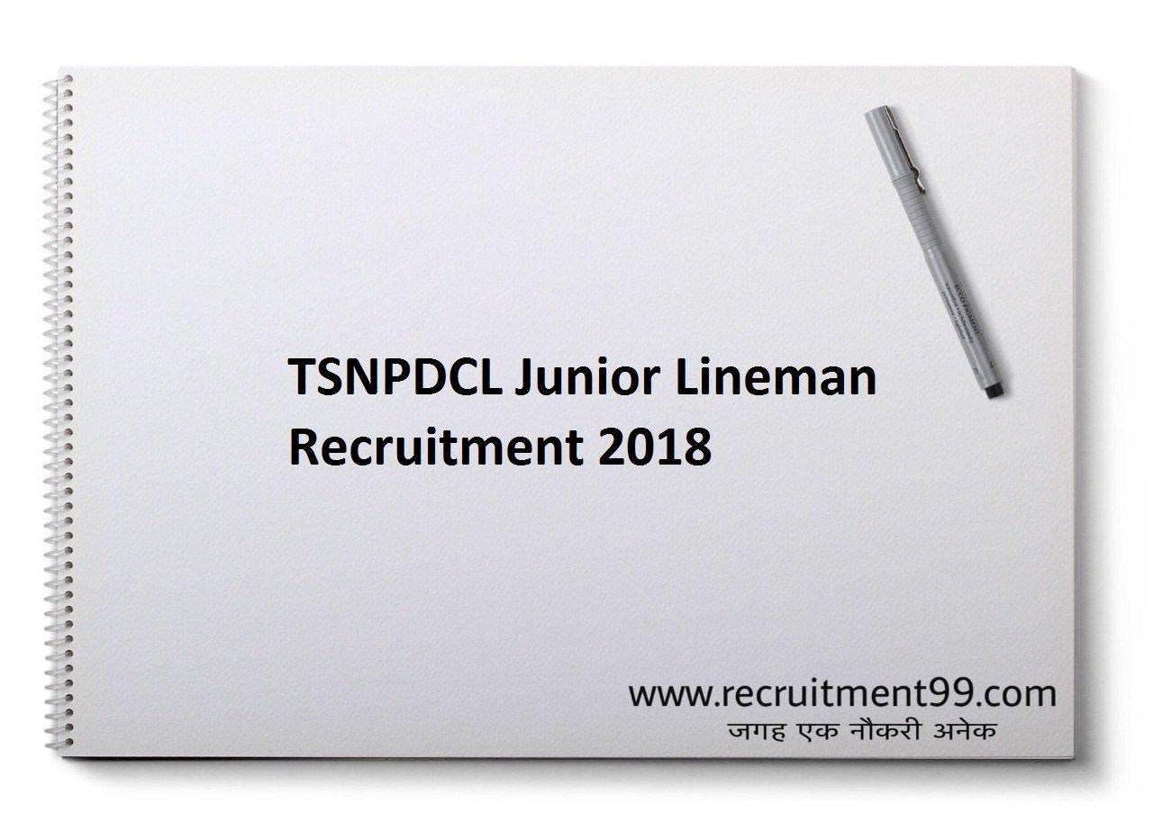 TSNPDCL Junior Lineman Recruitment Admit Card Result 2018