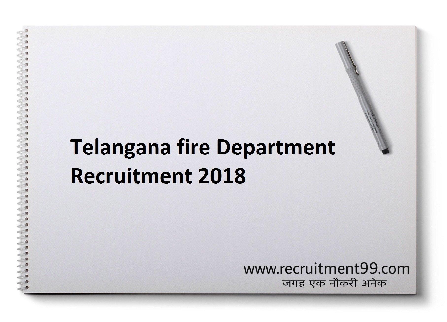 Telangana fire Dept. Fireman Driver Operator Admit Card & Result 2018
