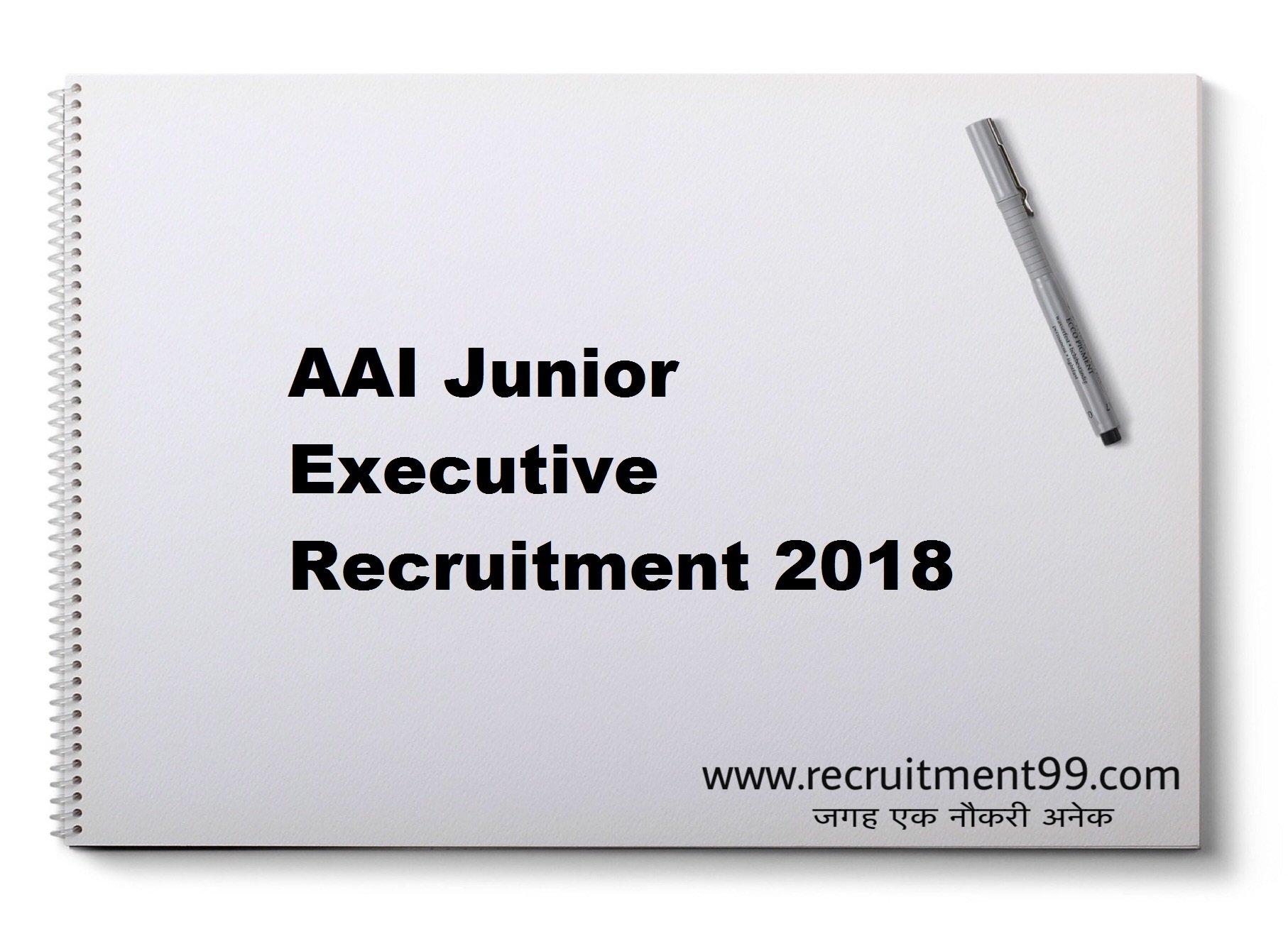 AAI Junior Executive Recruitment Admit Card Result 2018