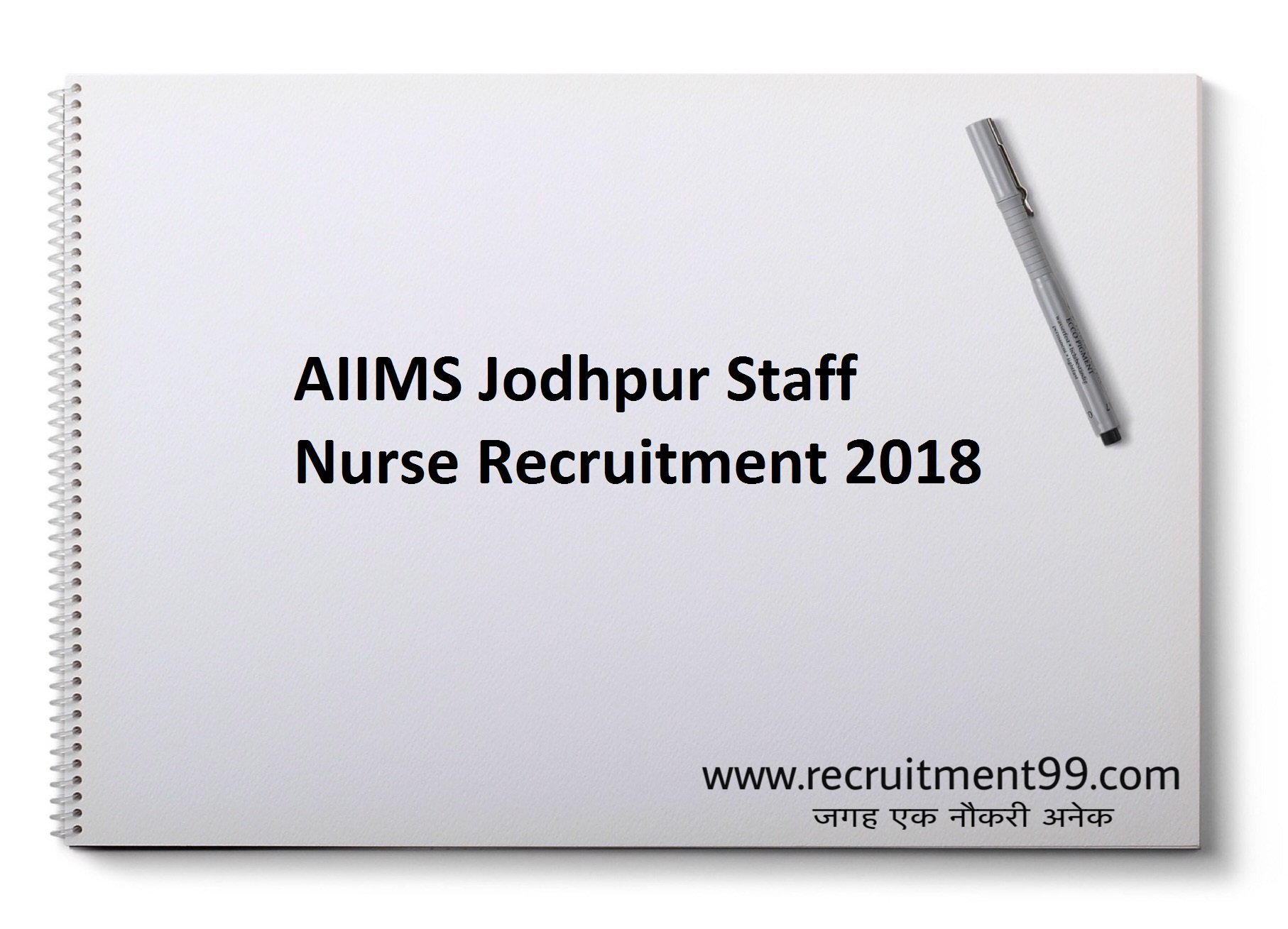 AIIMS Jodhpur Staff Nurse Recruitment Admit Card Result 2018