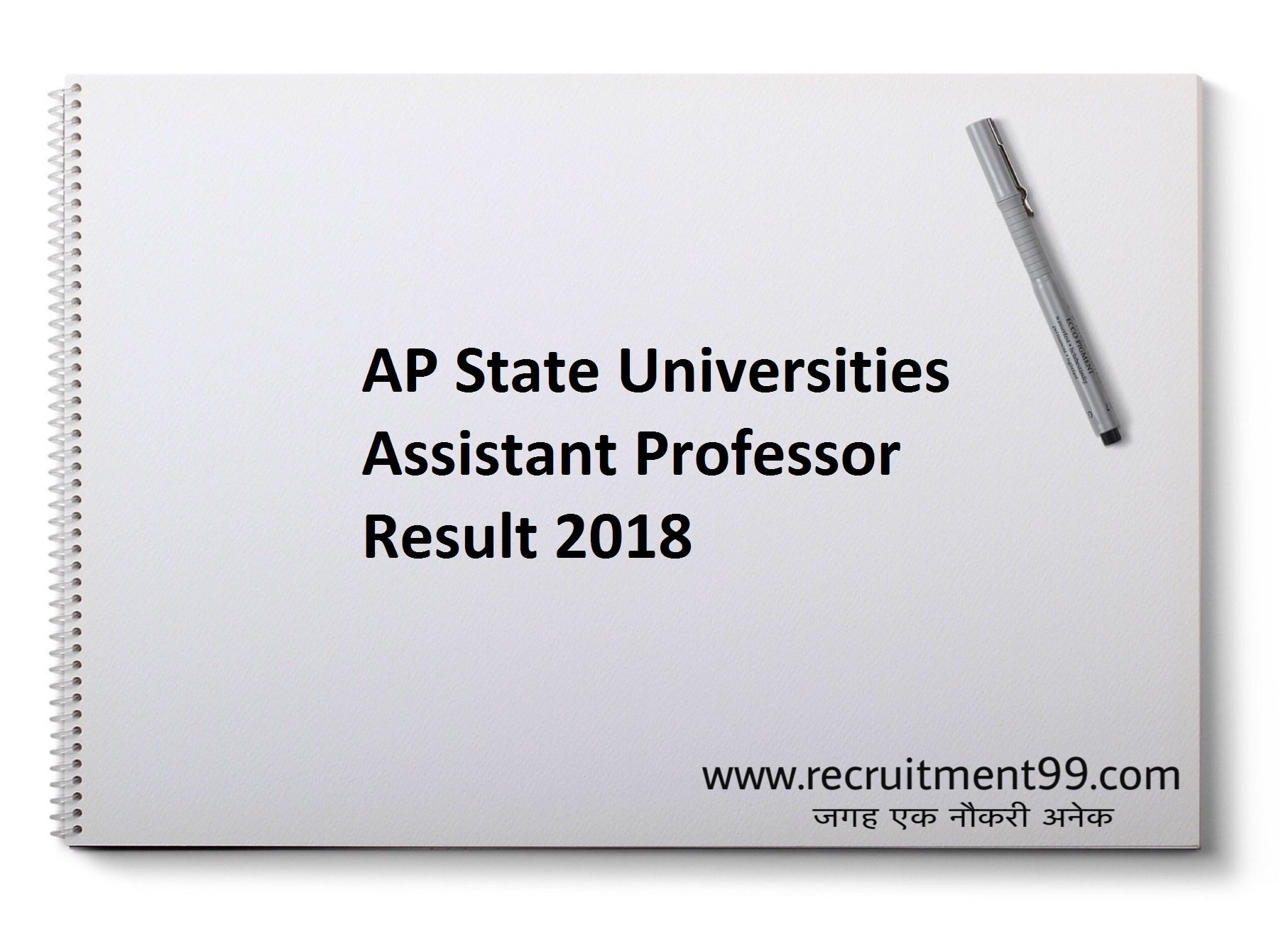 AP Universities Assistant Professor Recruitment Admit Card Result 2018