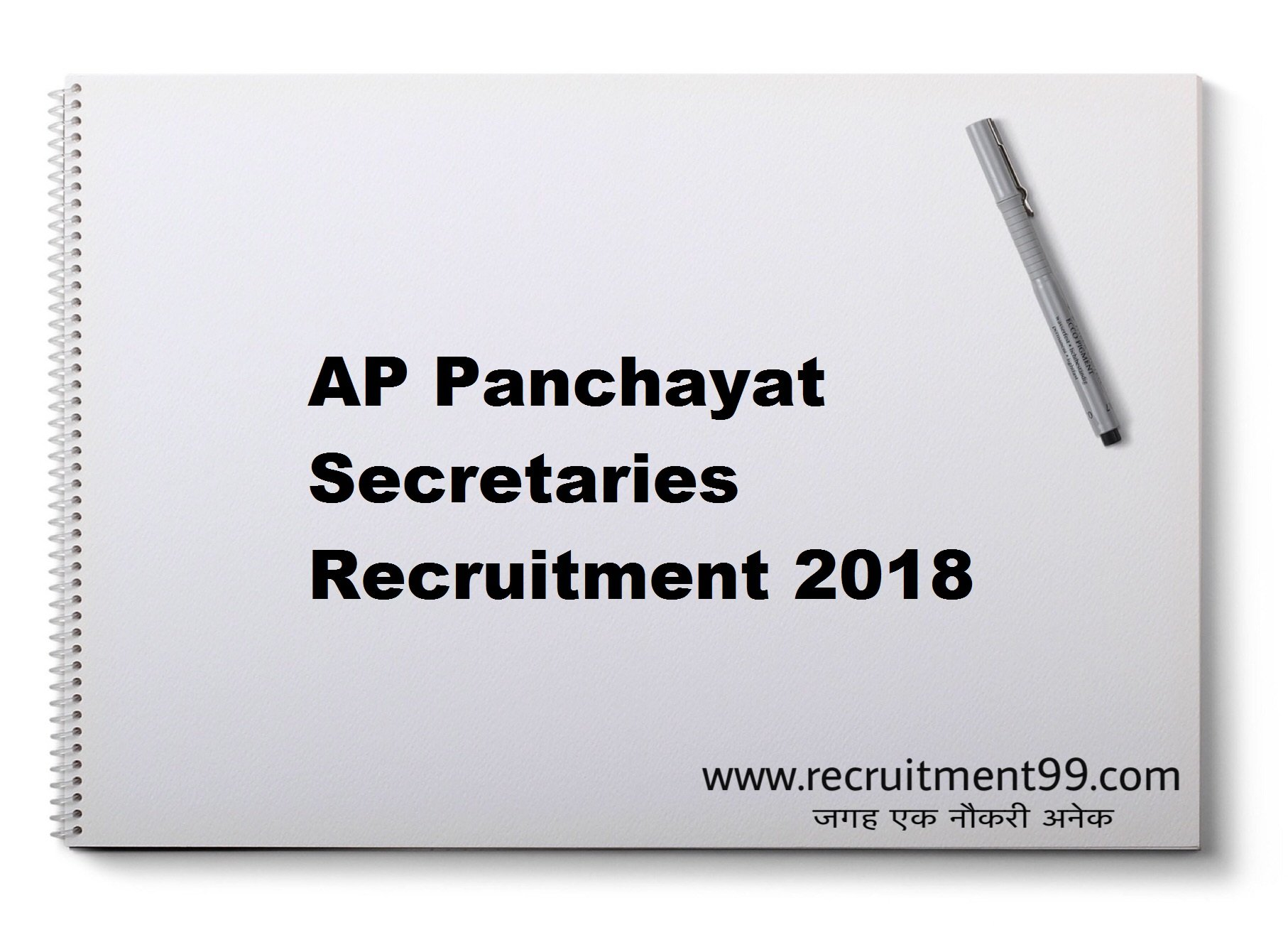 AP Panchayat Secretaries Recruitment Admit Card Result 2018
