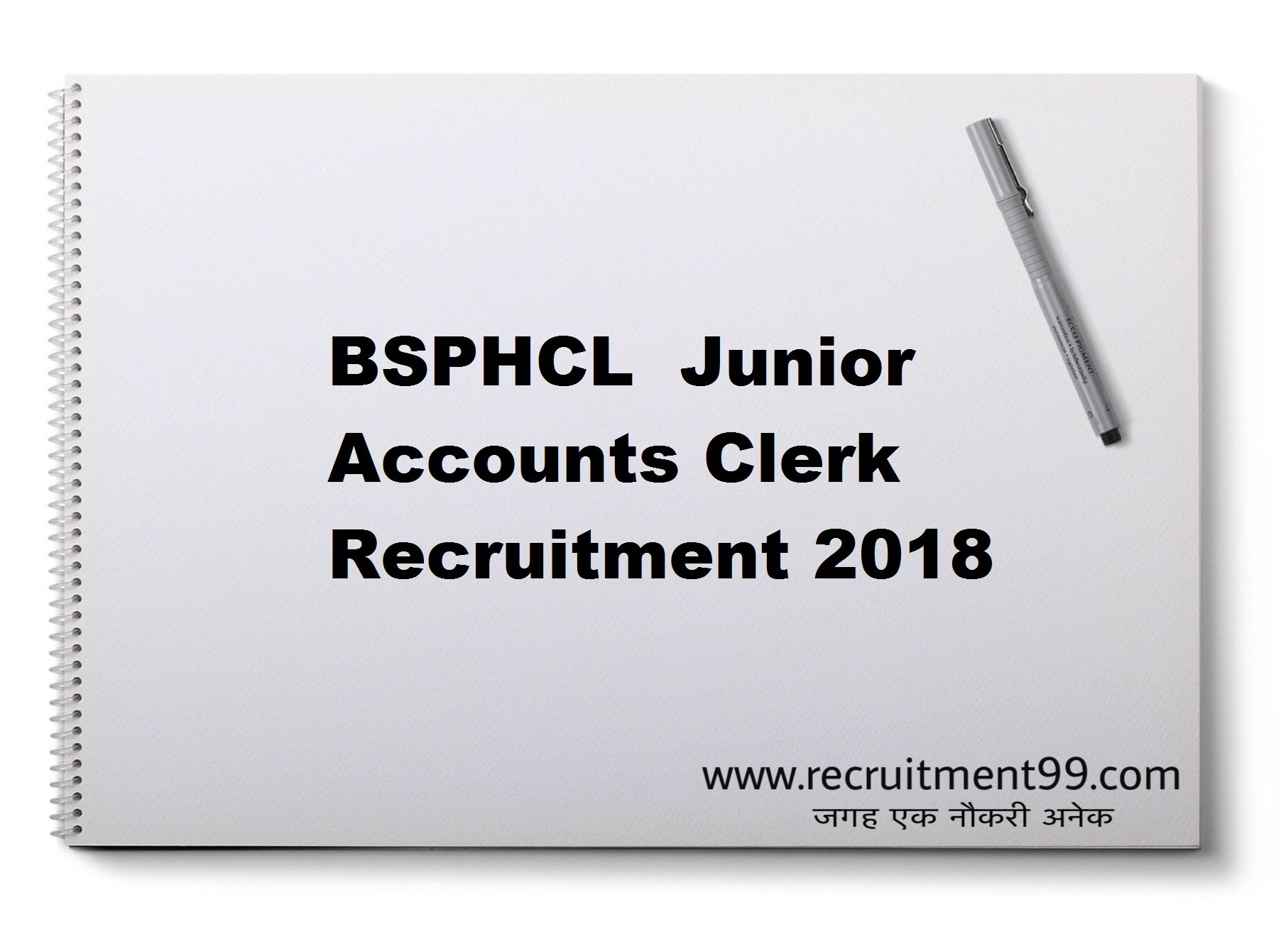 BSPHCL Junior Accounts Clerk Recruitment Admit Card Result 2018