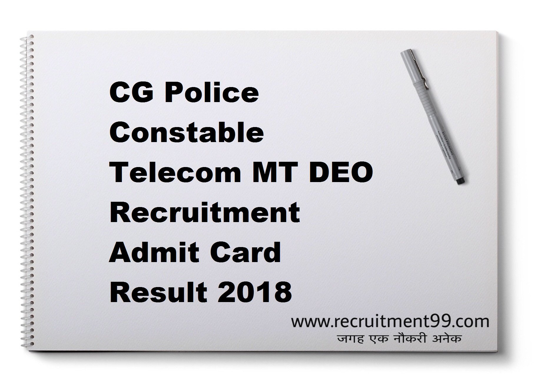 CG Police Constable Telecom MT DEO Recruitment Admit Card Result 2018