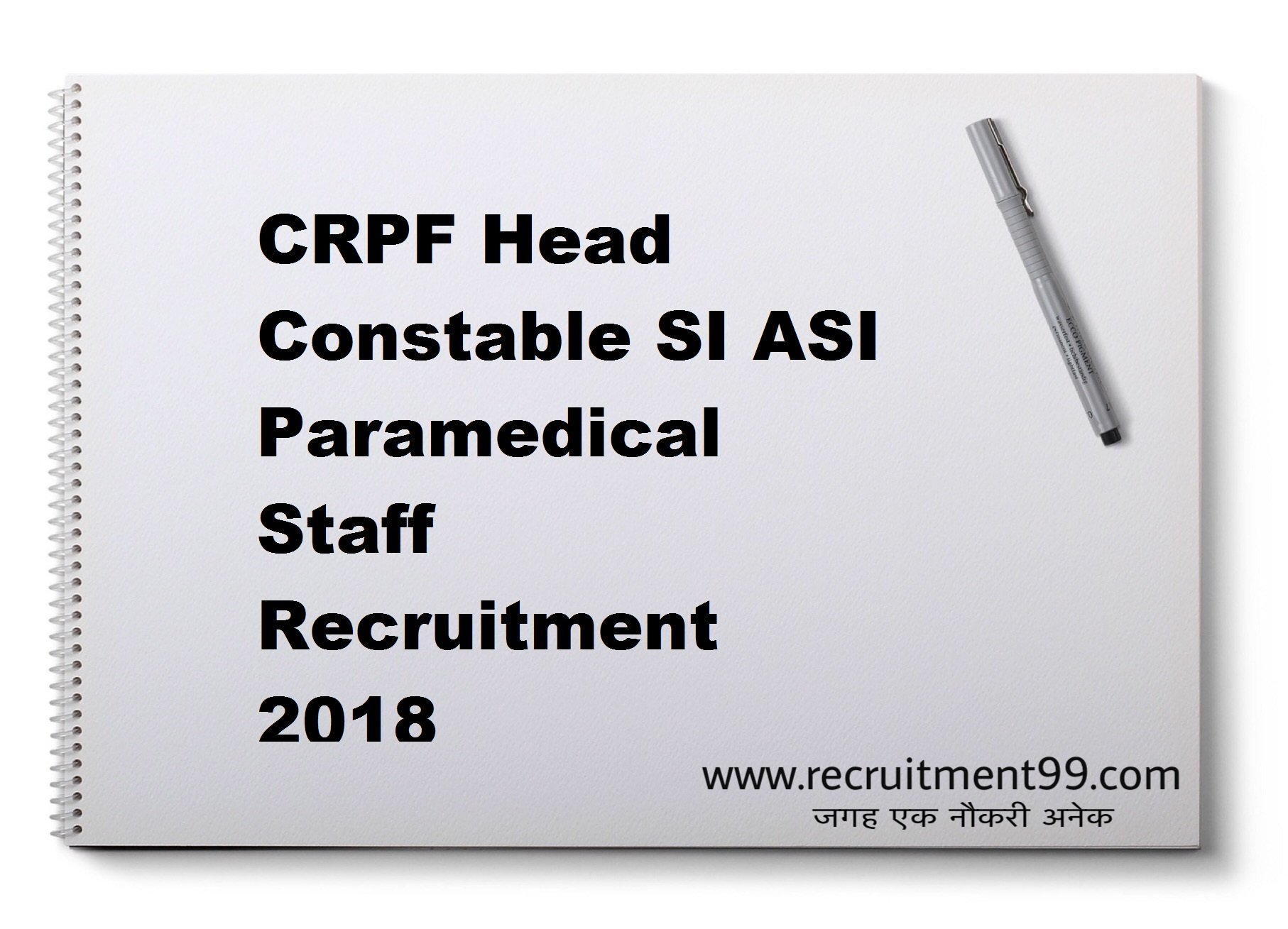 CRPF Head Constable SI ASI Paramedical Staff Recruitment Admit Card Result 2018