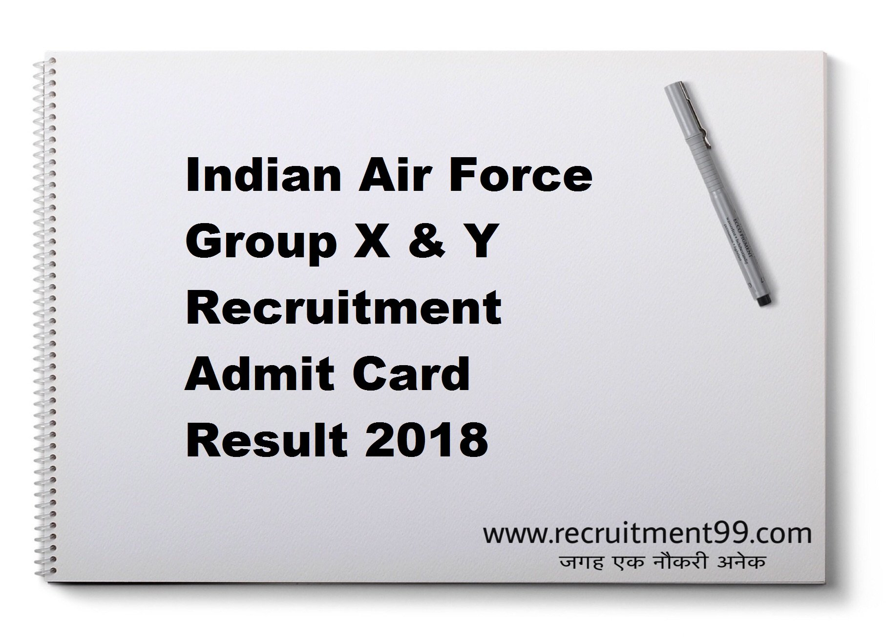 Indian Air Force Group X & Y Recruitment Admit Card Result 2018