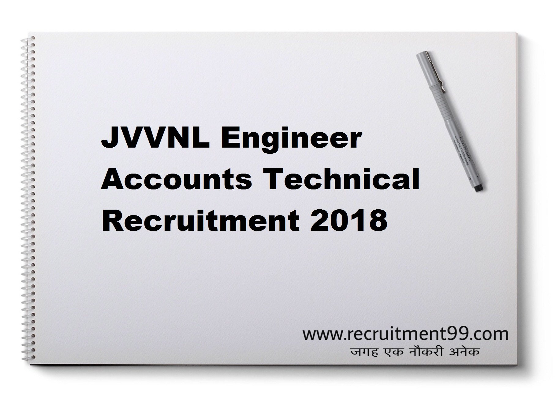 JVVNL Engineer Accounts Technical Recruitment Admit Card Result 2018