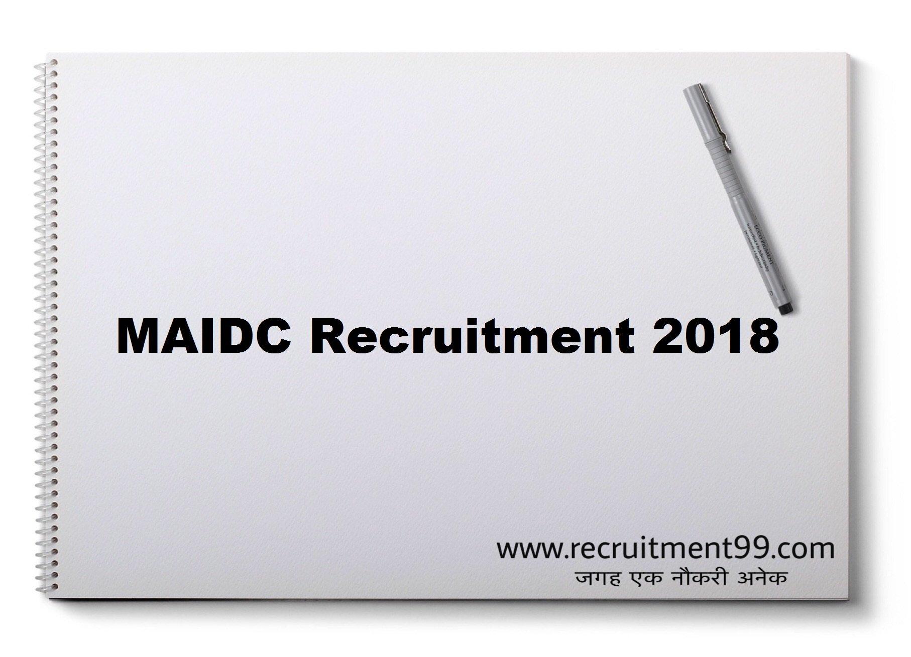 MAIDC Sales Representative Chemist Assistant Manager Recruitment Admit Card Result 2018