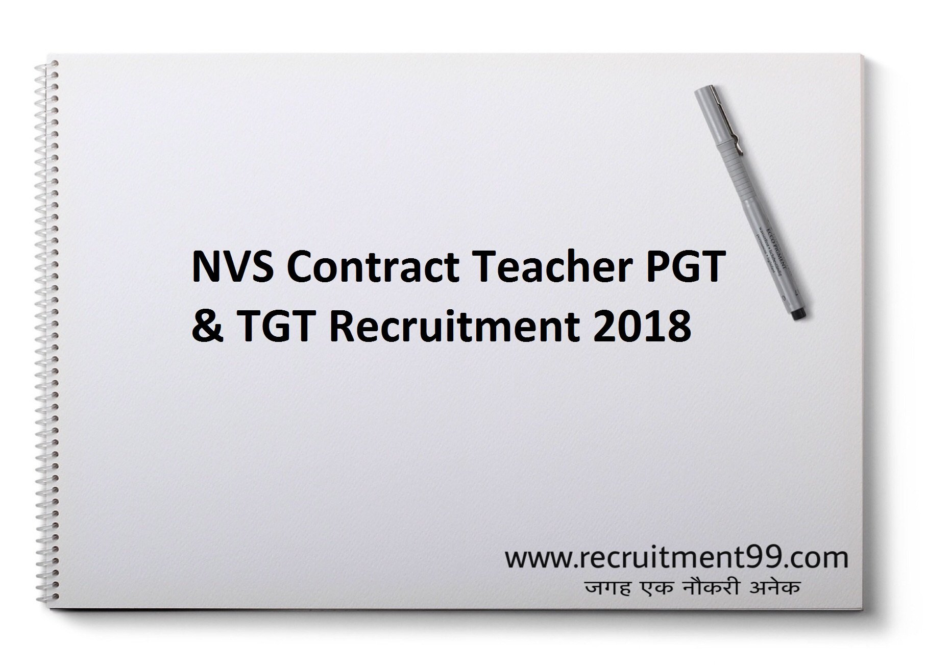 NVS Jaipur PGT TGT Recruitment Admit Card Result 2018
