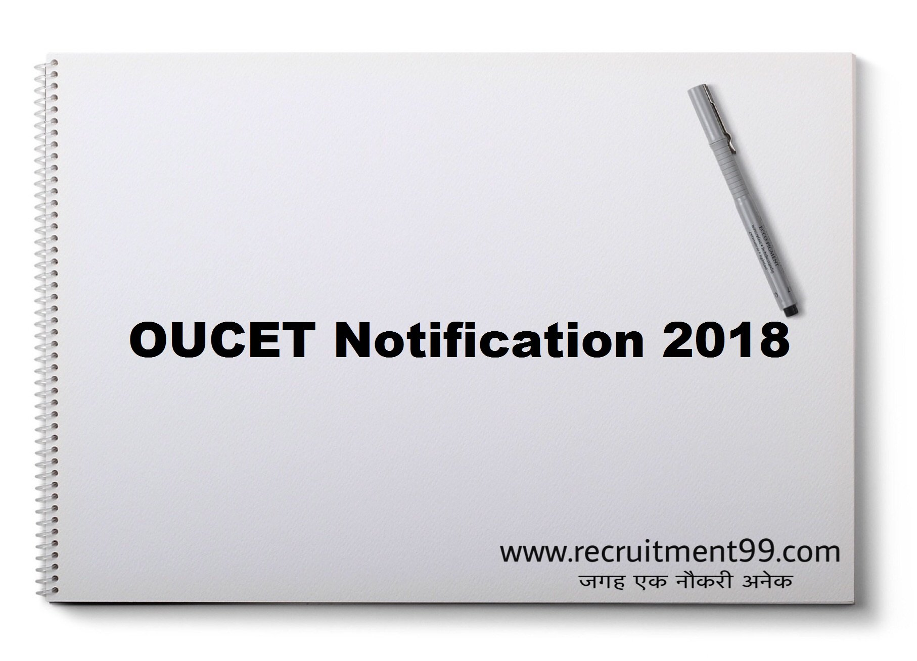 OUCET Notification Hall Ticket Result Counseling 2018