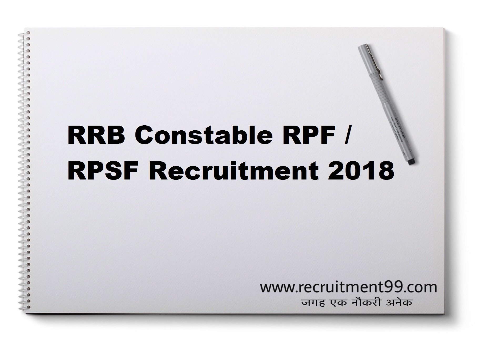 RPF Constable Recruitment Admit Card Result 2018