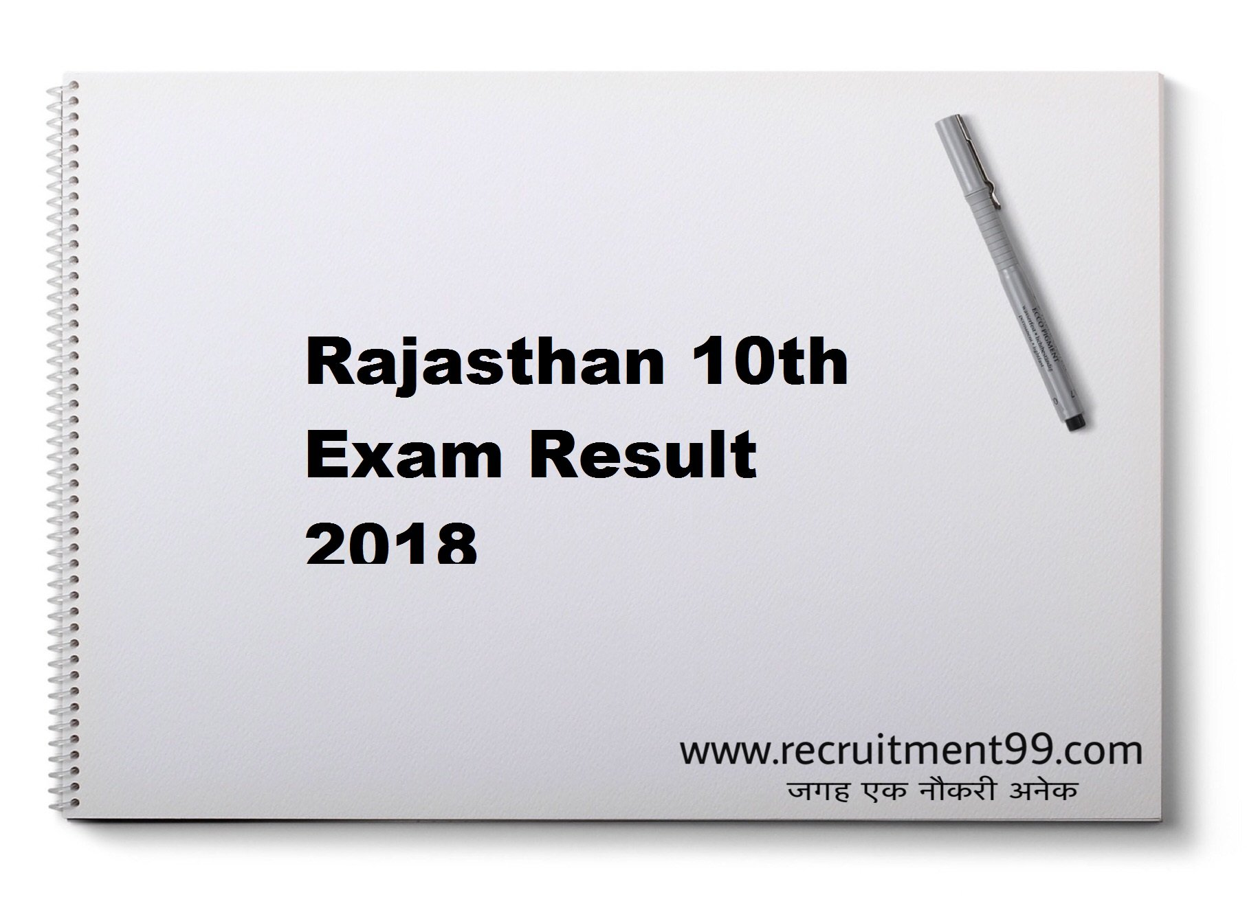 Rajasthan 10th Board Exam Result 2018