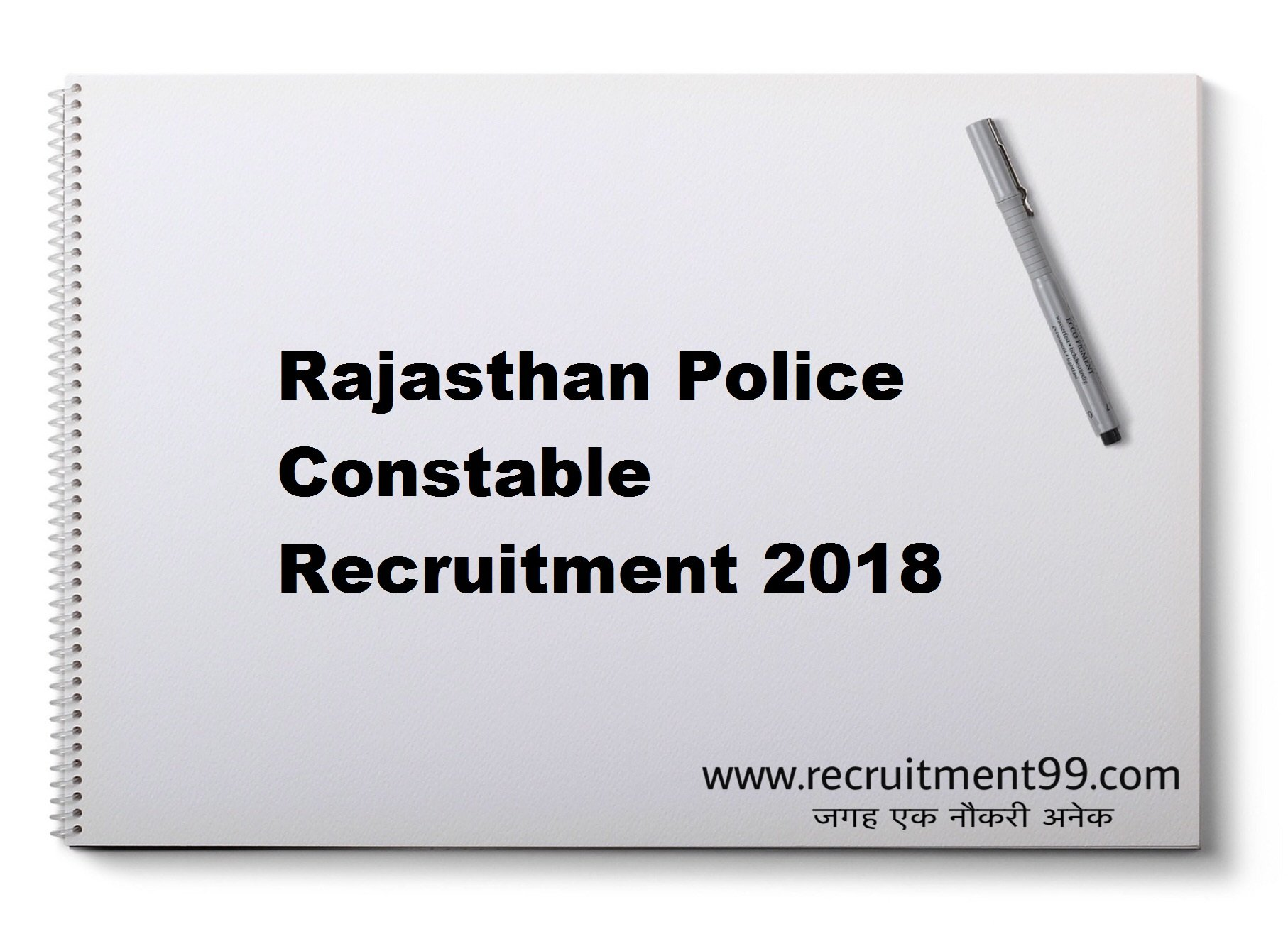 Rajasthan Police Constable Recruitment Admit Card Result 2018
