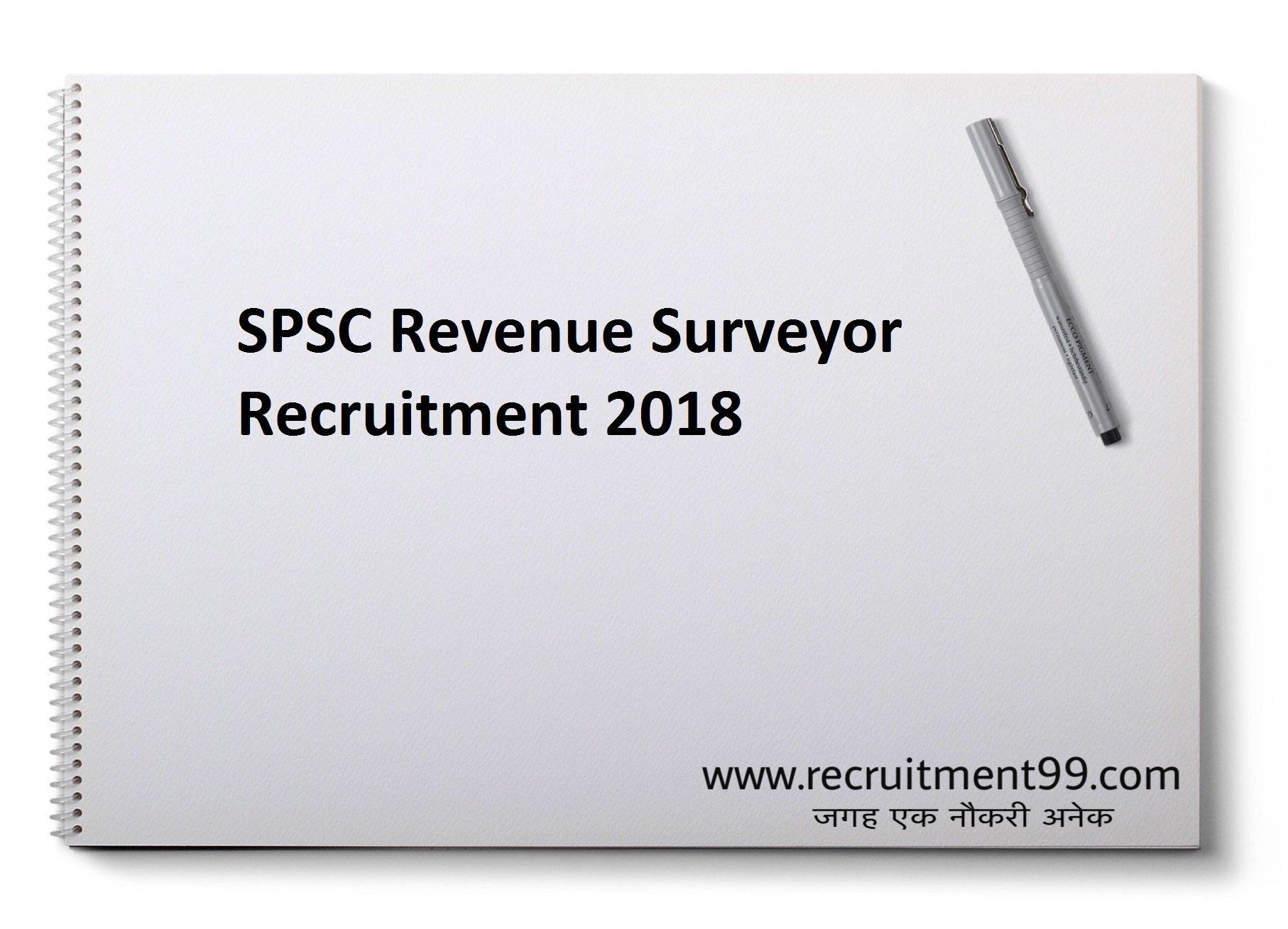 SPSC Revenue Surveyor Recruitment Admit Card Result 2018