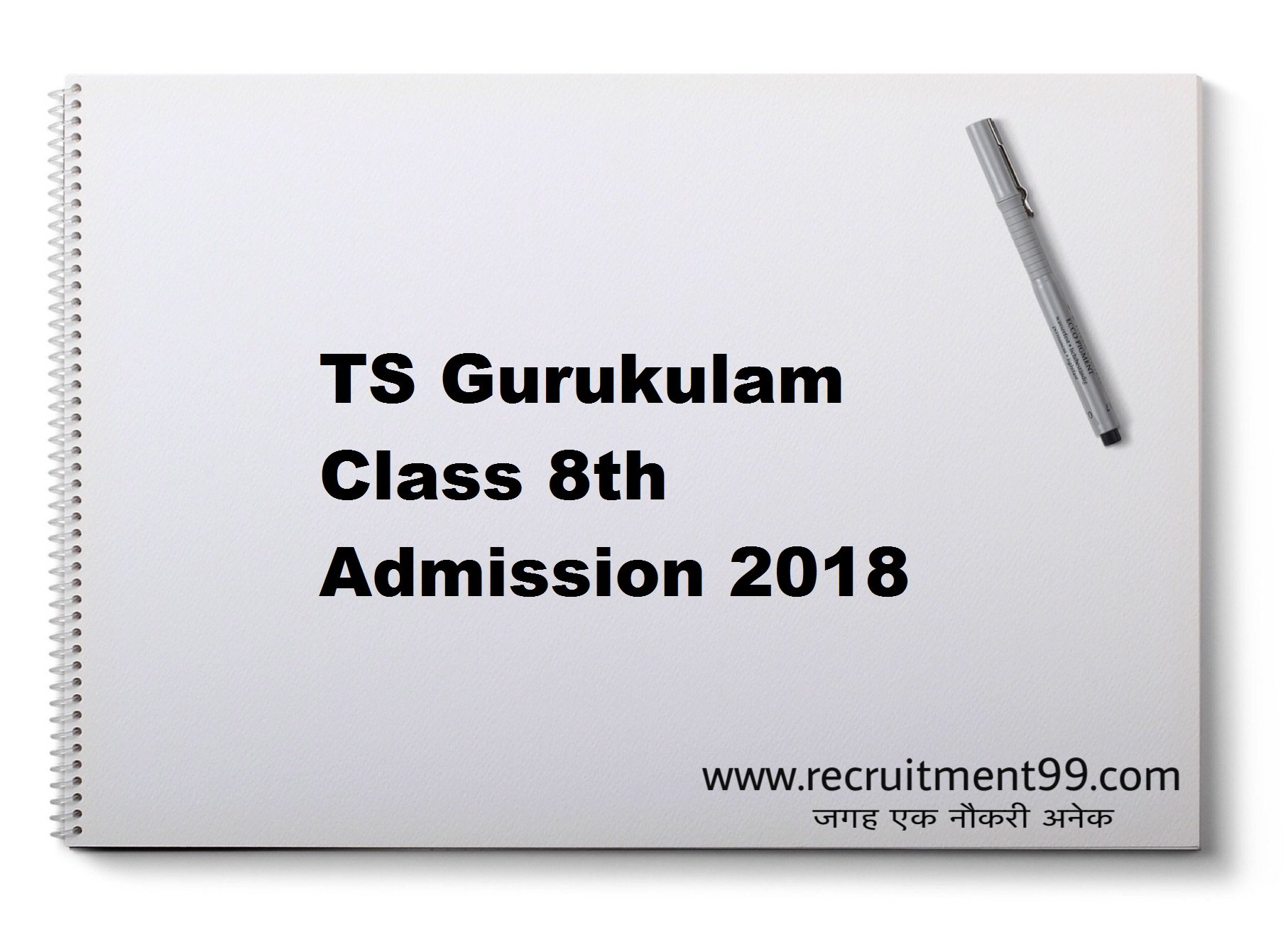TS Gurukulam 8thClass Admission Hall Ticket Result 2018