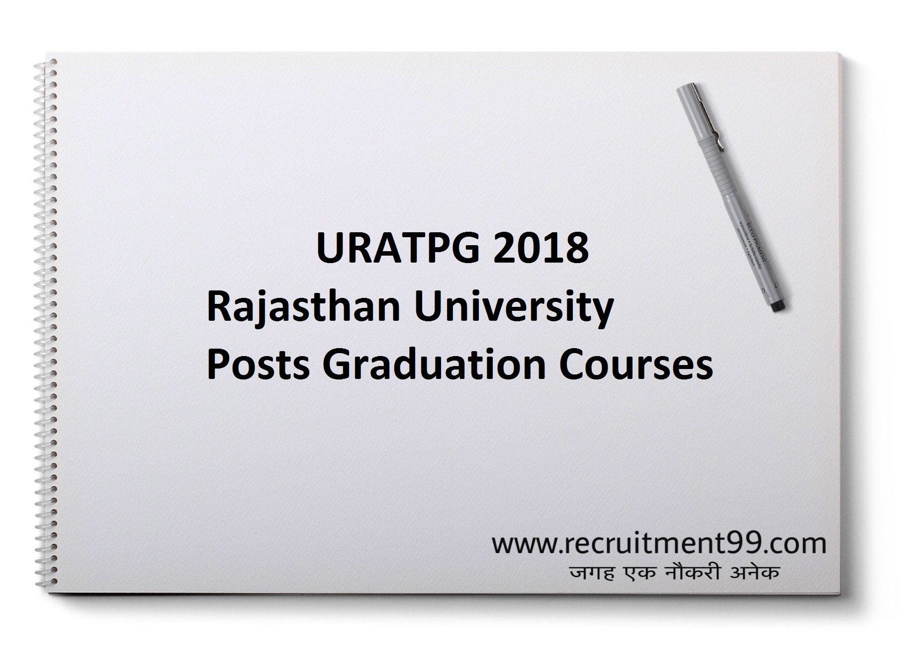URATPG Admission Admit Card Result 2018
